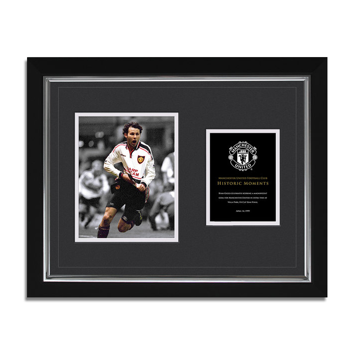 Manchester United Historic Moments - Giggs FA Cup Framed Print - 20 x 16