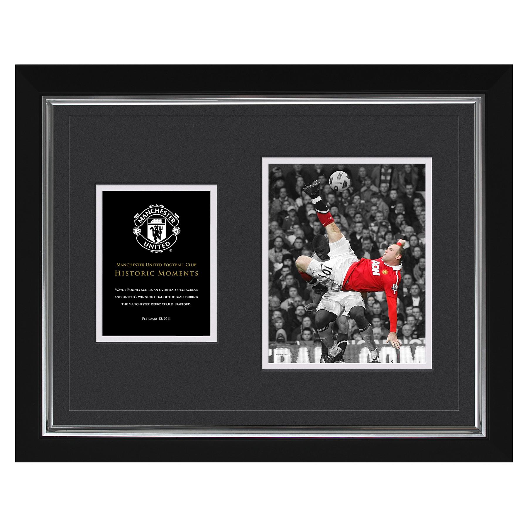 Manchester United Historic Moments - Rooney Overhead Kick Framed Print