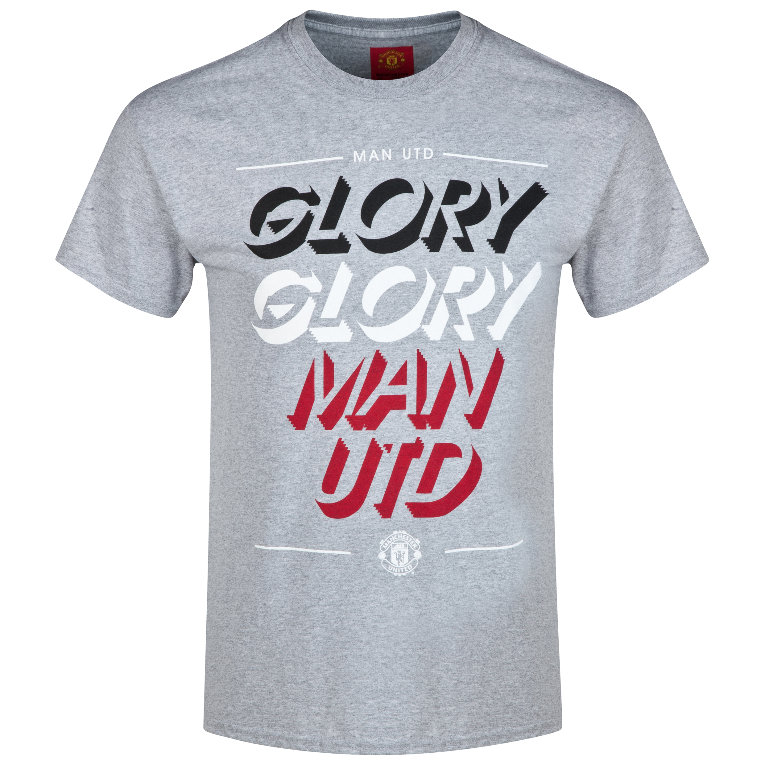 Manchester United Glory Glory Man Utd T-Shirt - Sports Grey - Mens