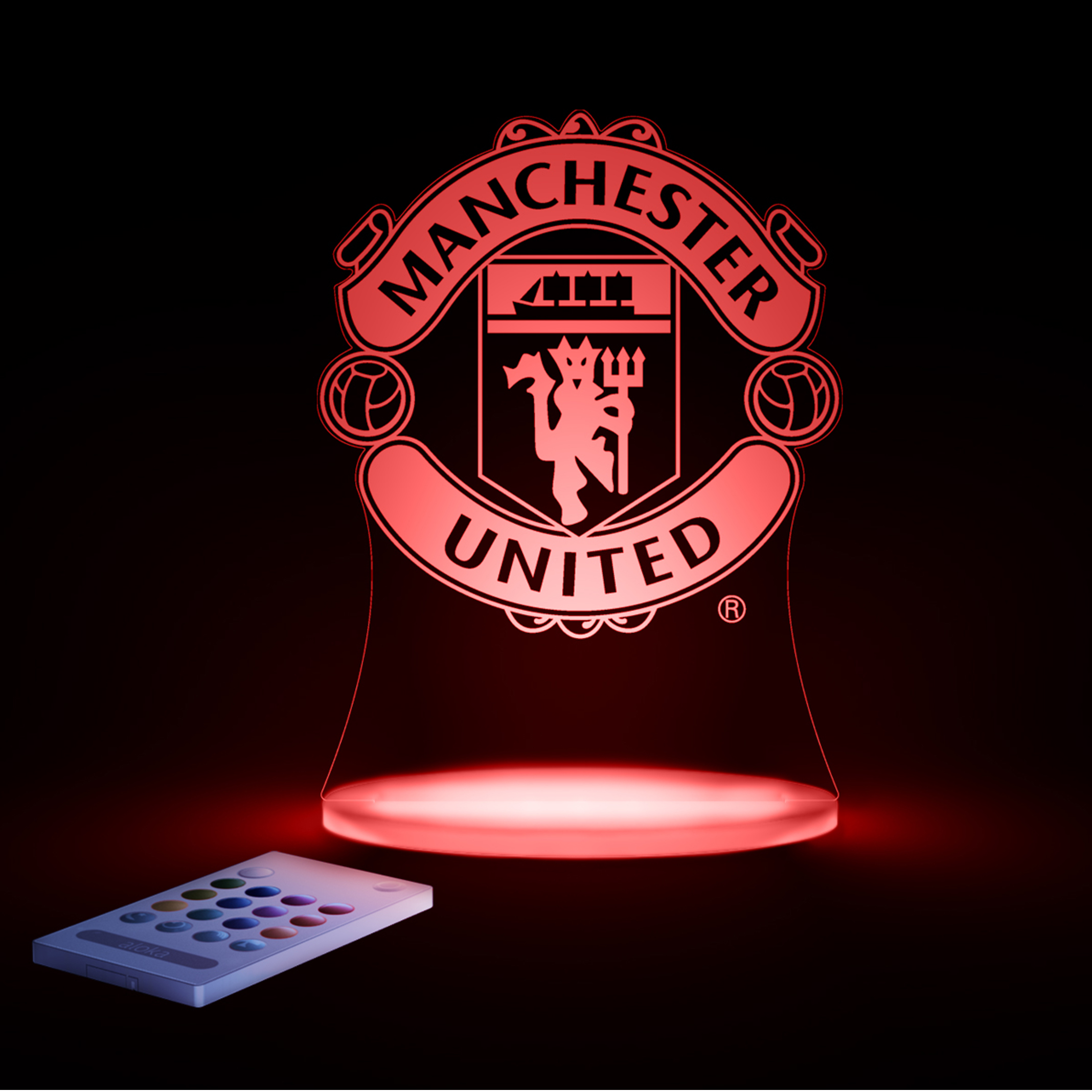 Manchester United Premier USB Crest Light with Remote Control