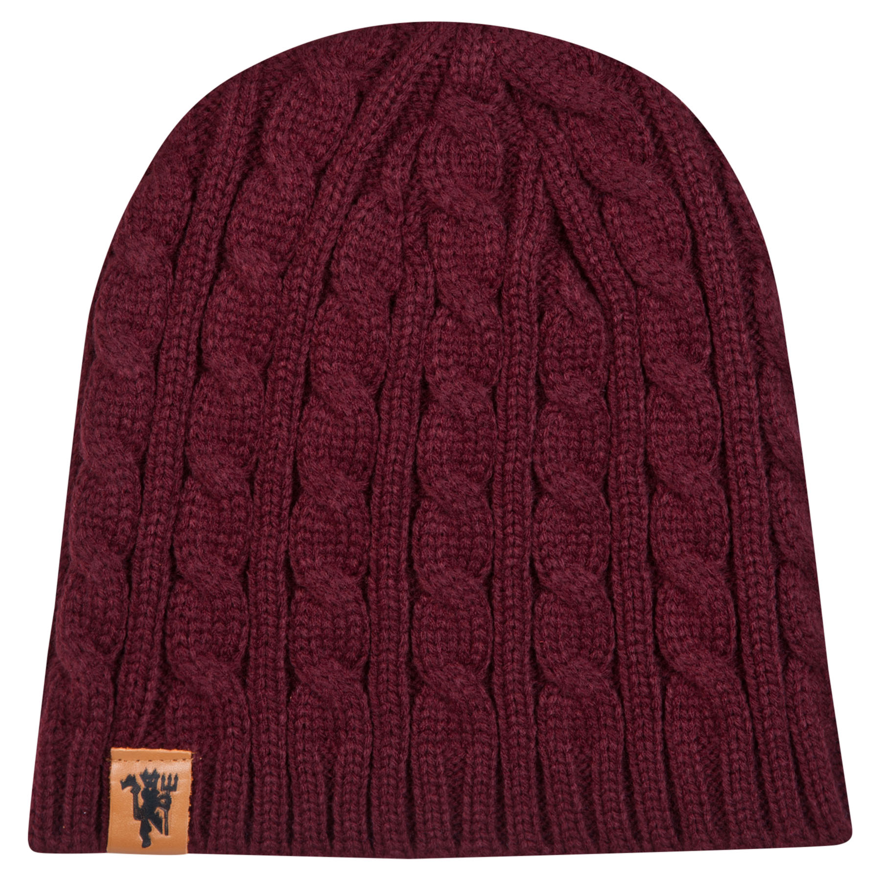 Manchester United Captains Beanie Hat - Burgundy - Adult