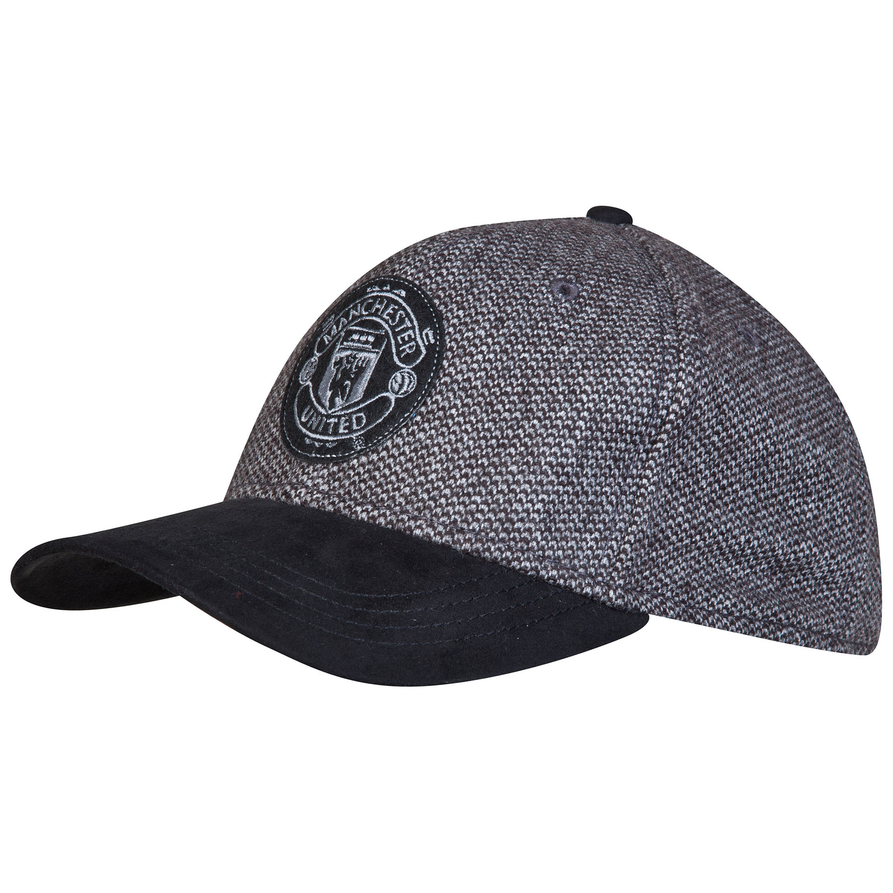Manchester United Tweed Cap - Black - Adult