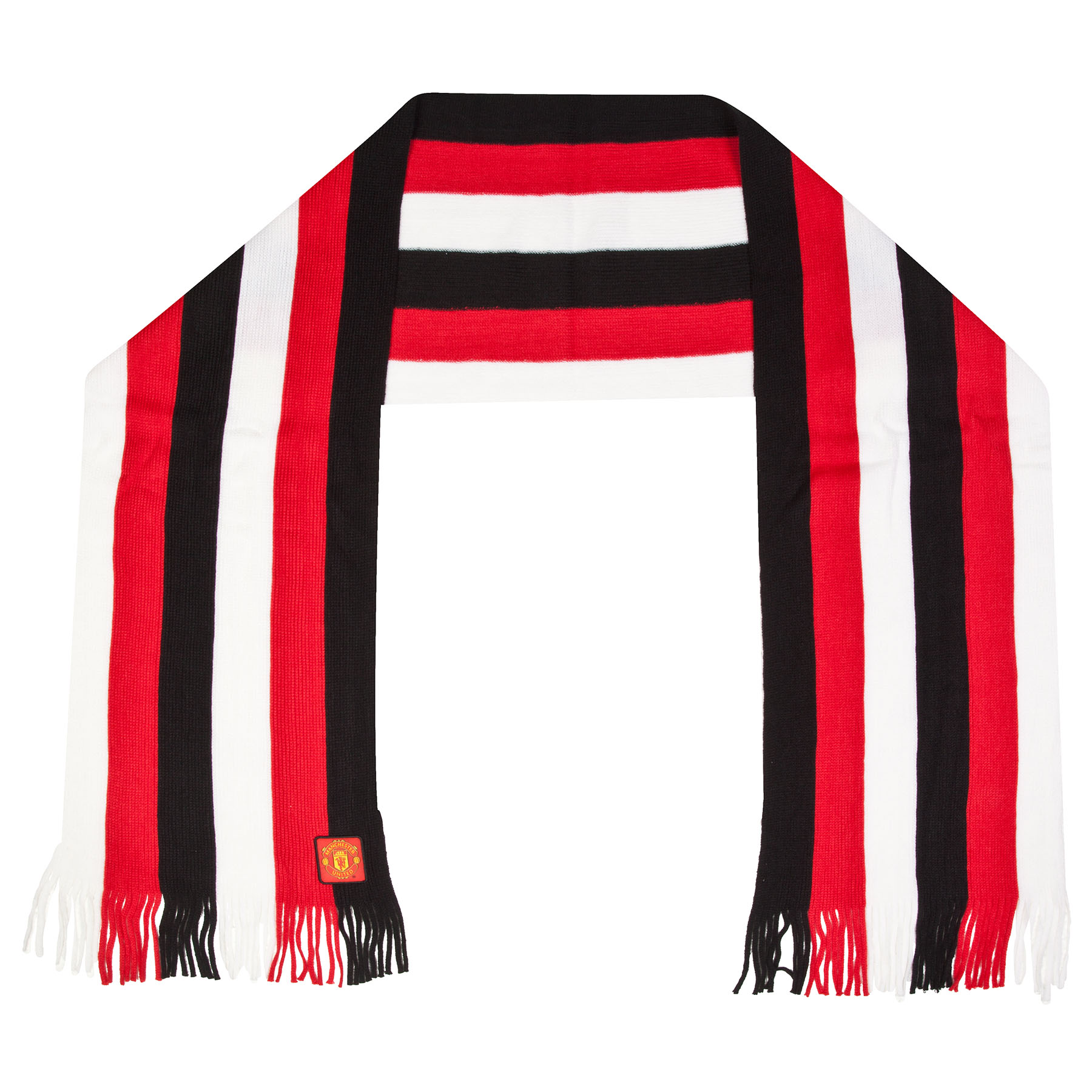 Manchester United Full Time Striped Scarf - Multi - Adult