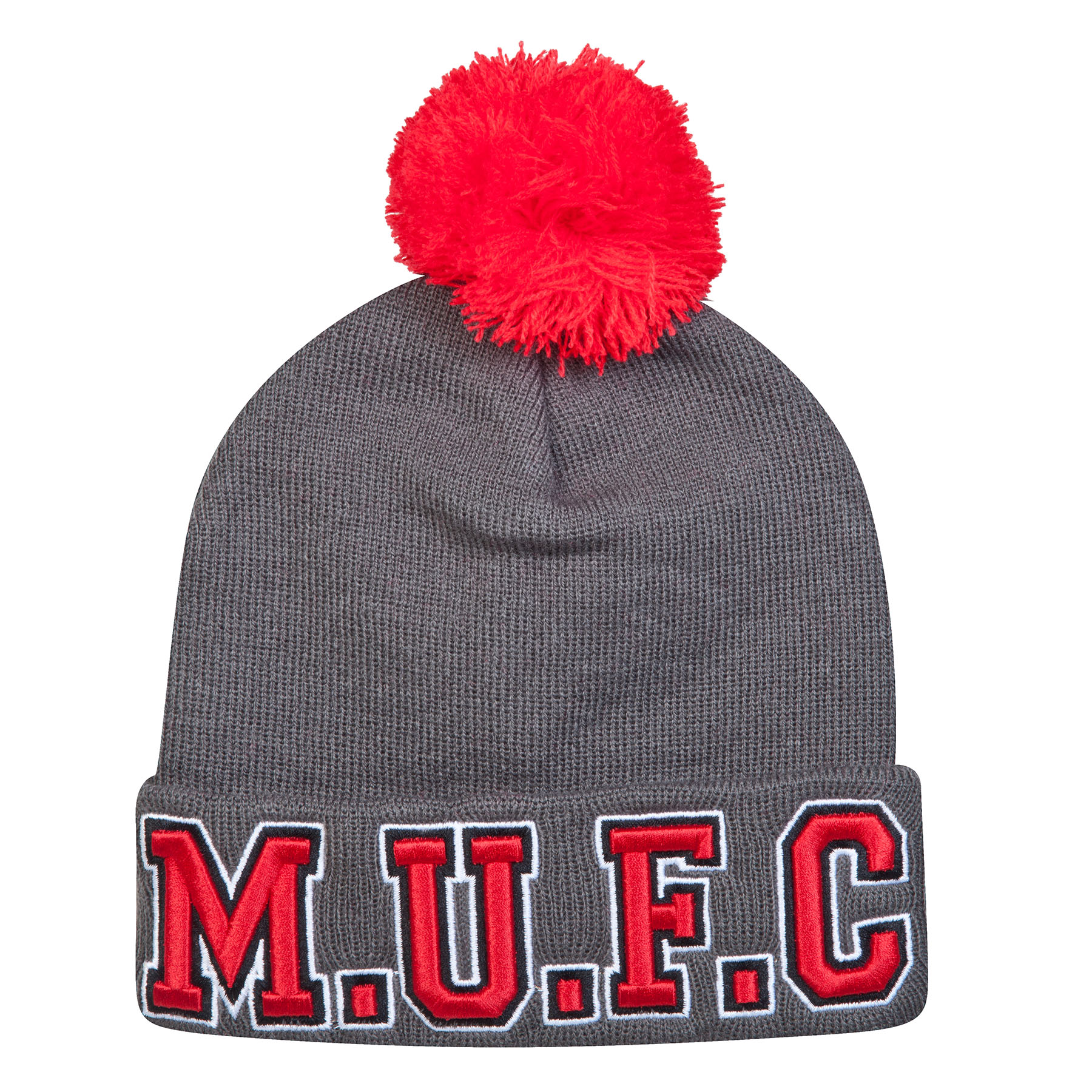 Manchester United Half Time Beanie Hat - Grey - Kids