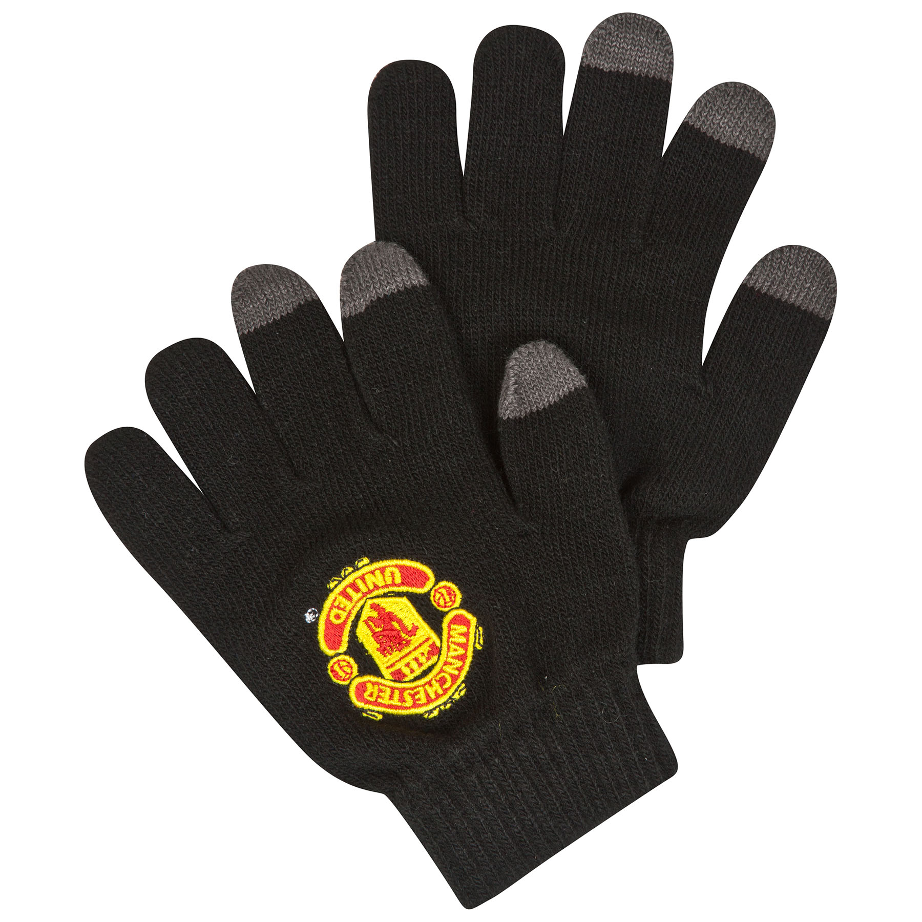 Manchester United Touch Screen Gloves - Black - Kids