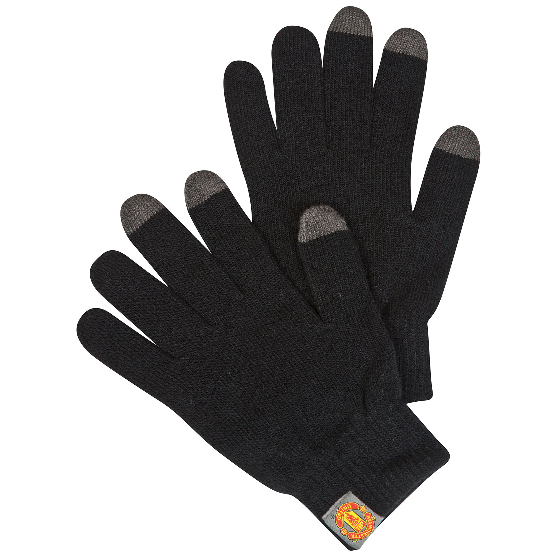 Manchester United Touch Screen Gloves - Black - Adult