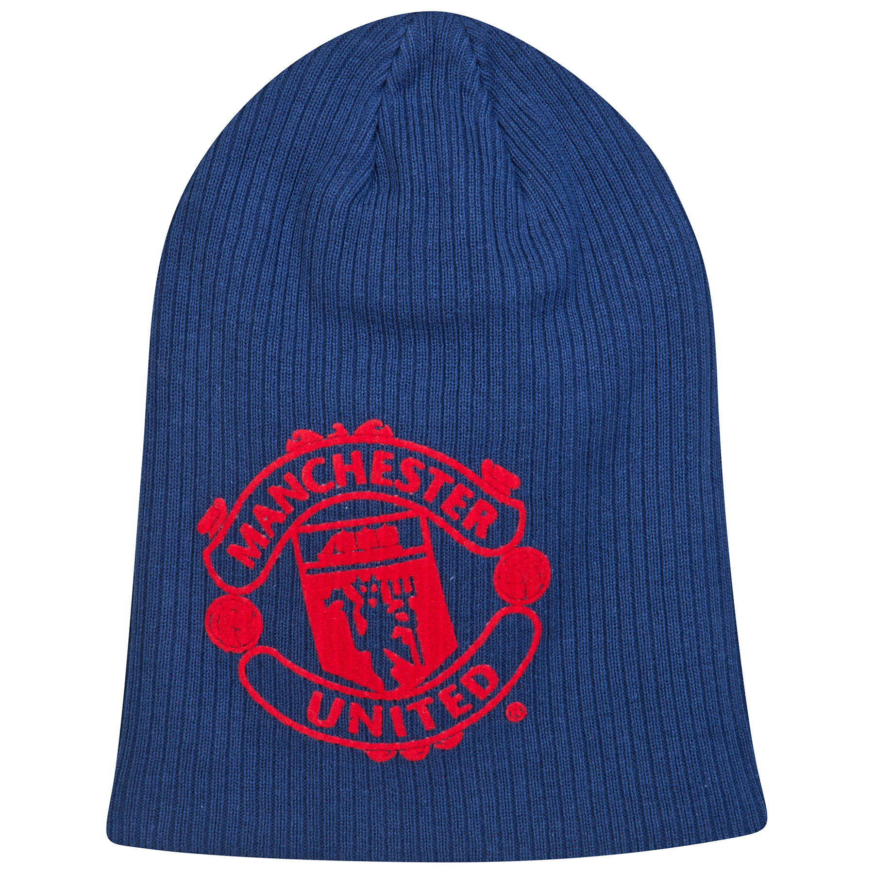 Manchester United Warm Up Slouch Beanie - Navy - Adult