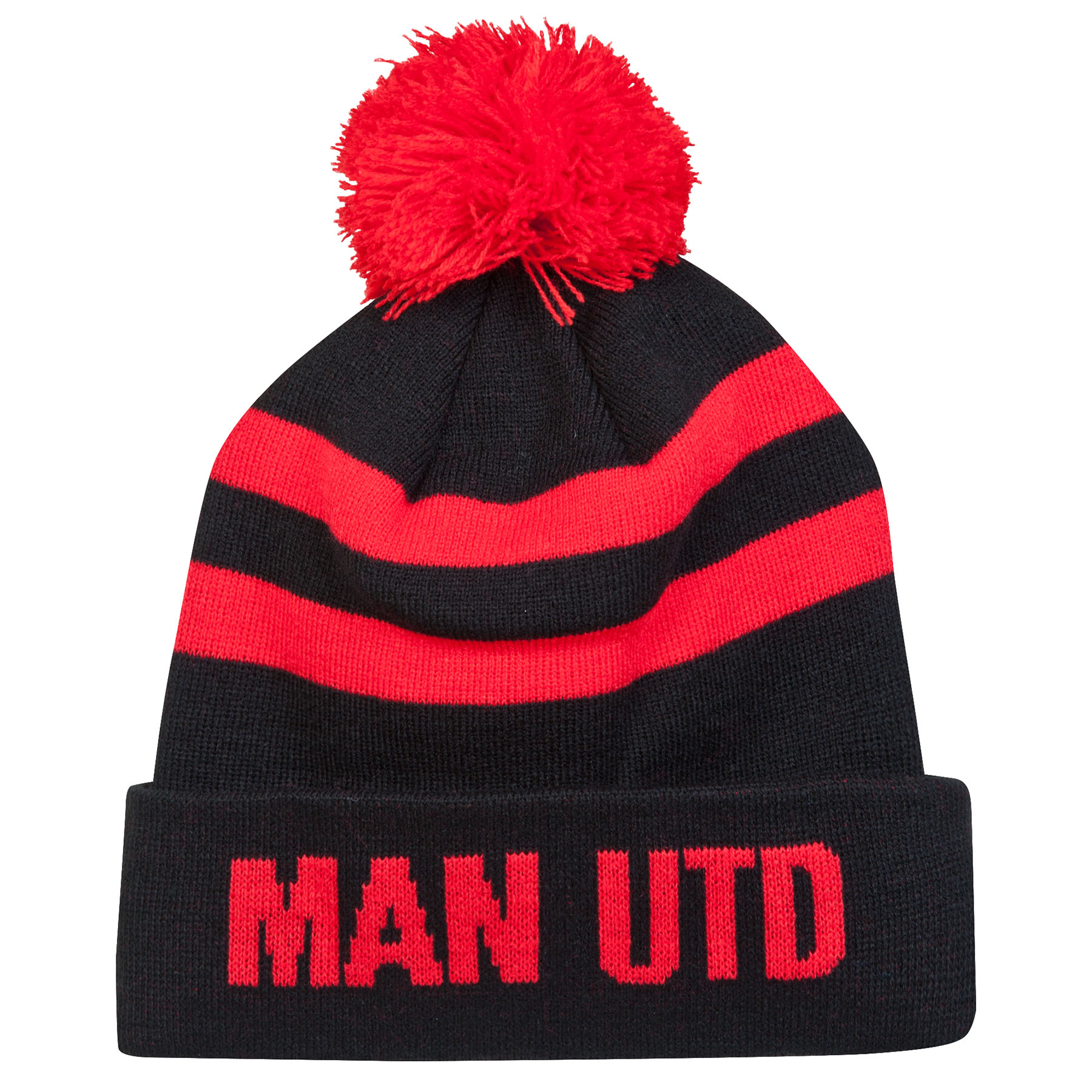 Manchester United Volley Beanie Hat - Black/Red - Adult