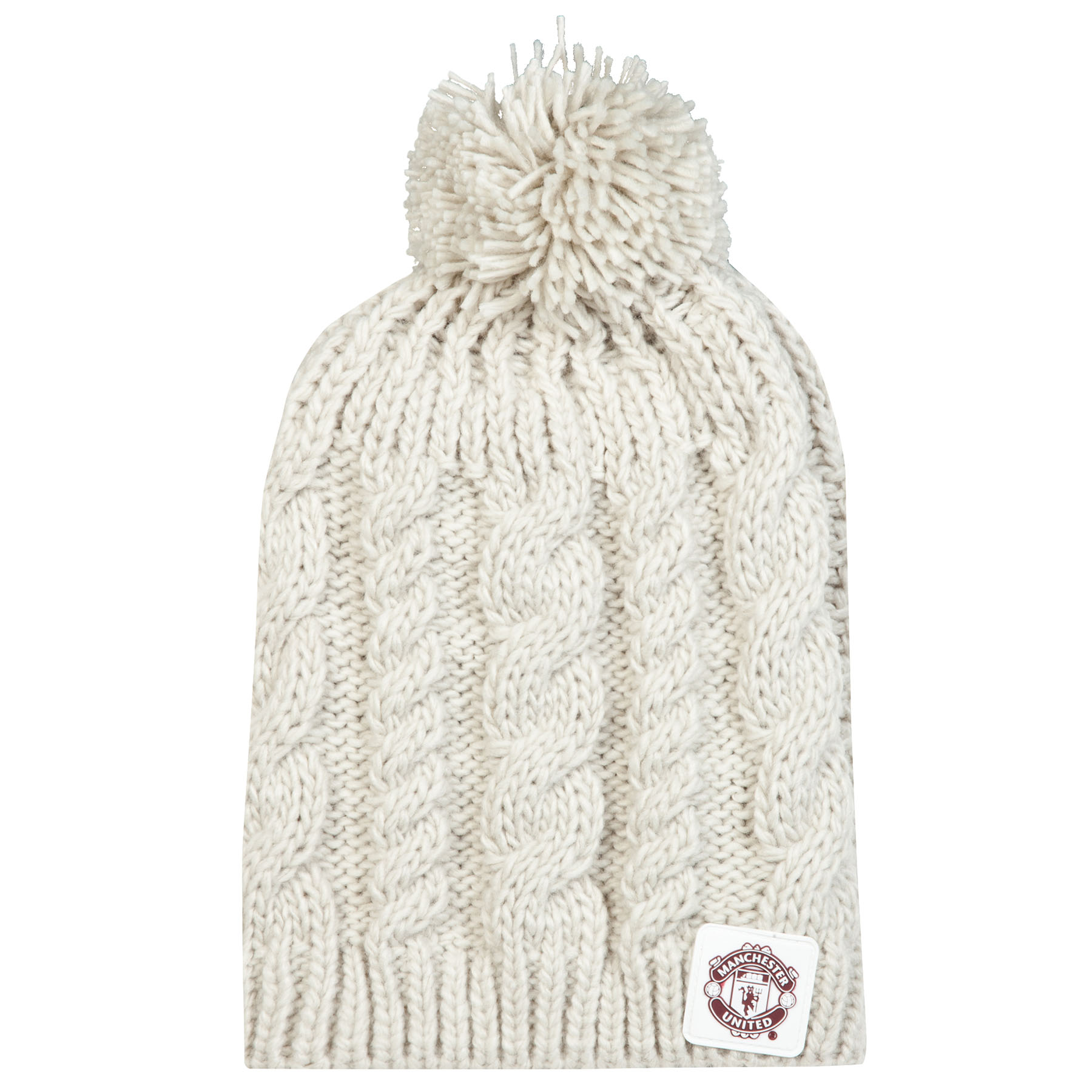 Manchester United Goalie Beanie Hat - Cream - Womens
