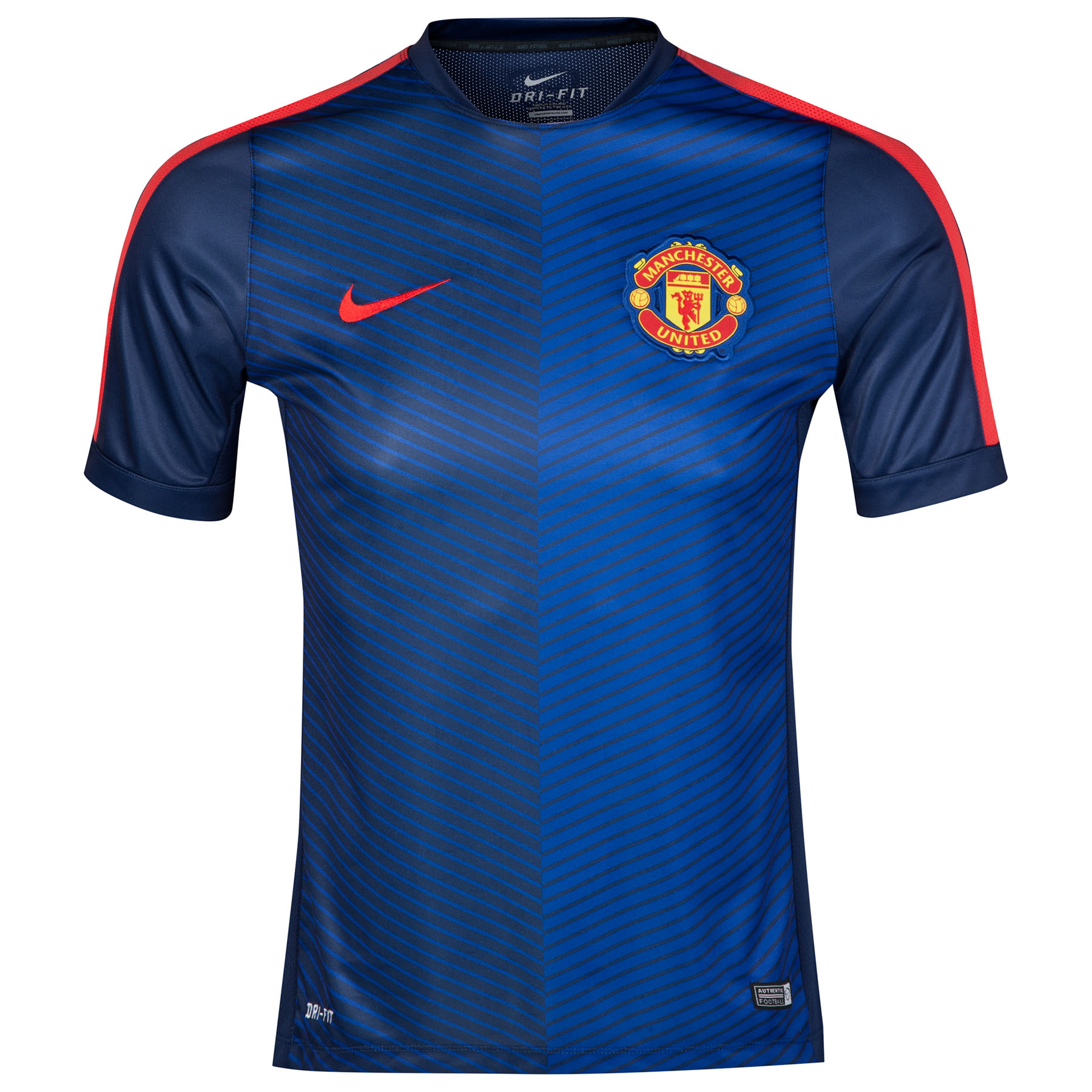 Manchester United Squad Short Sleeve Pre Match Top - Kids