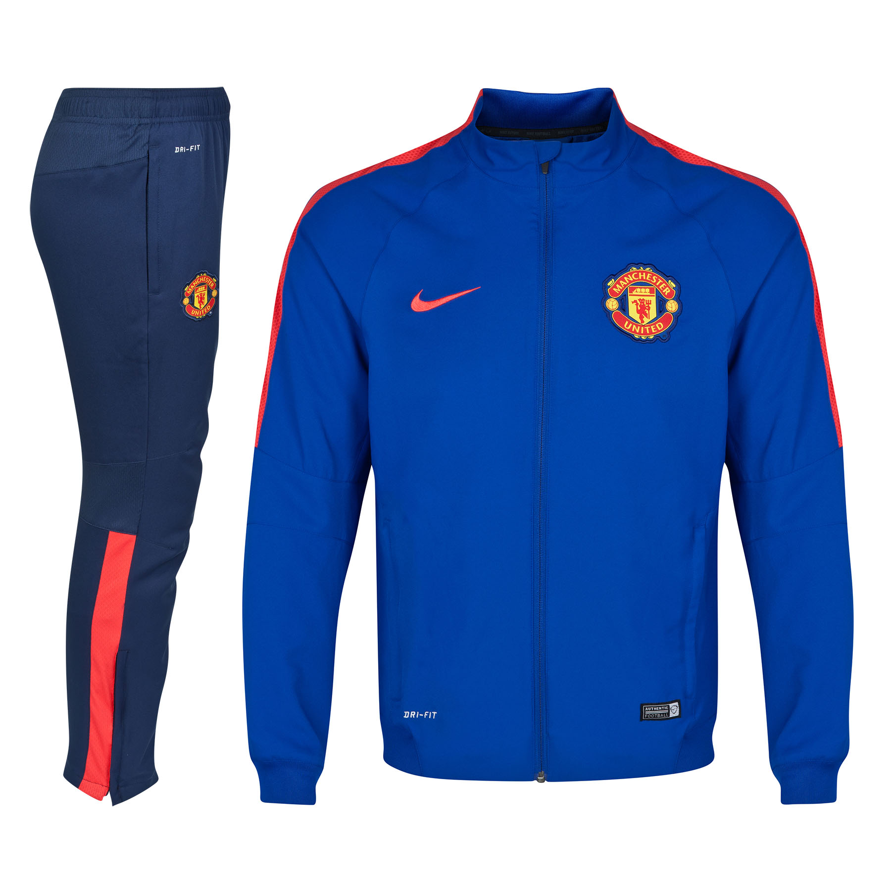 Manchester United Squad Sideline Woven Warm Up Tracksuit - Kids