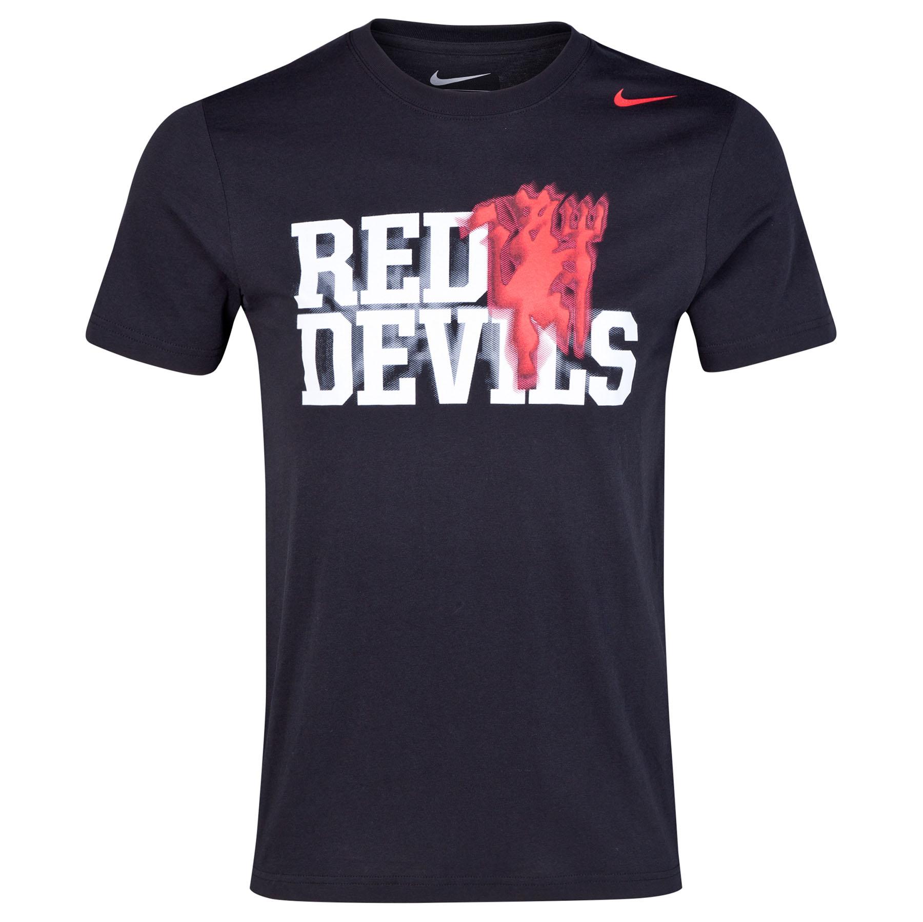 Manchester United Core Plus T-Shirt Black