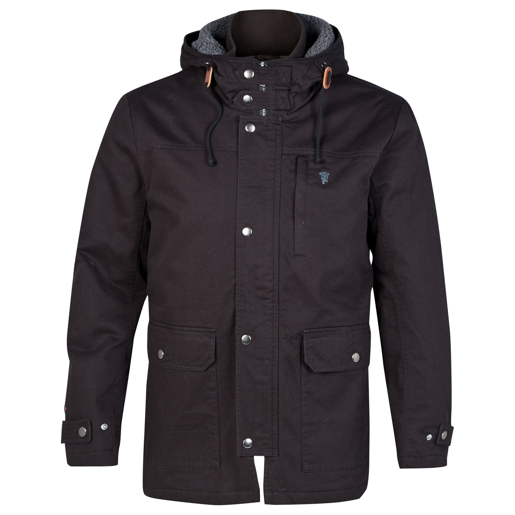 Manchester United Red Label Parka - Black - Mens