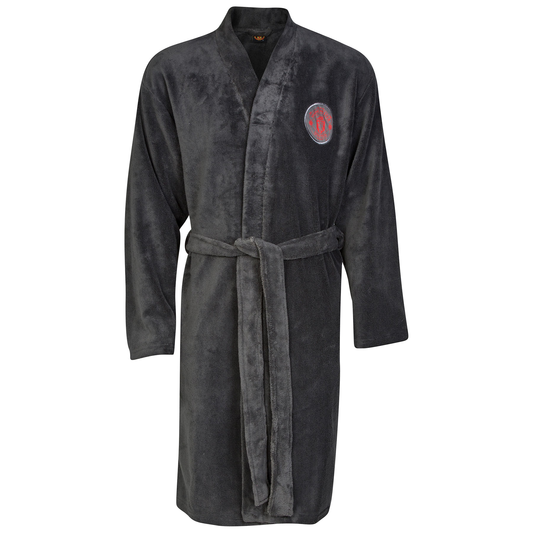 Manchester United Crest Robe - Charcoal - Mens