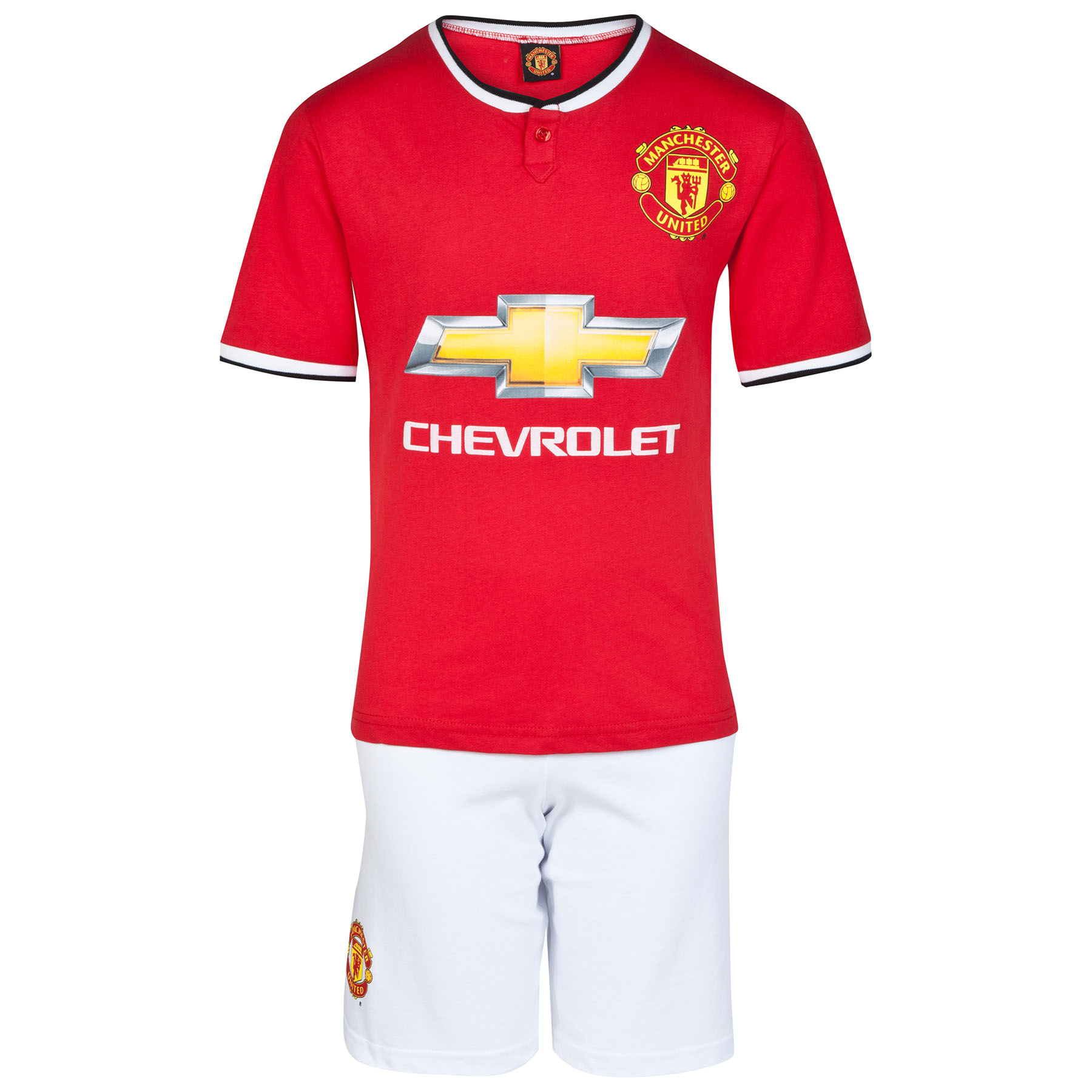 Manchester United Home Kit Pyjamas - Red/White - Boys