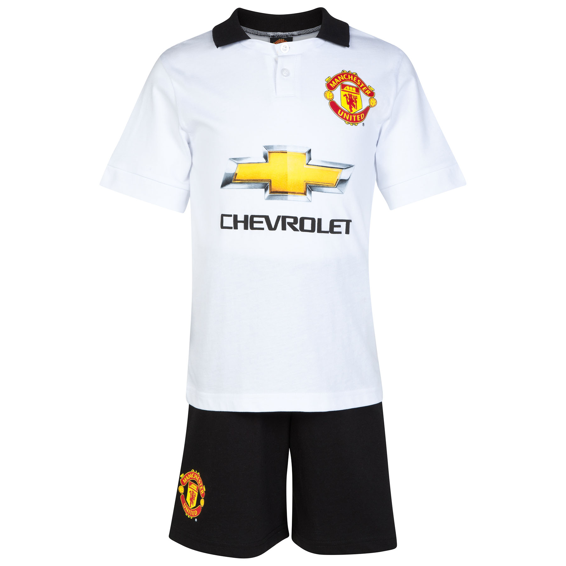 Manchester United Away Kit Pyjamas - White/Black - Boys