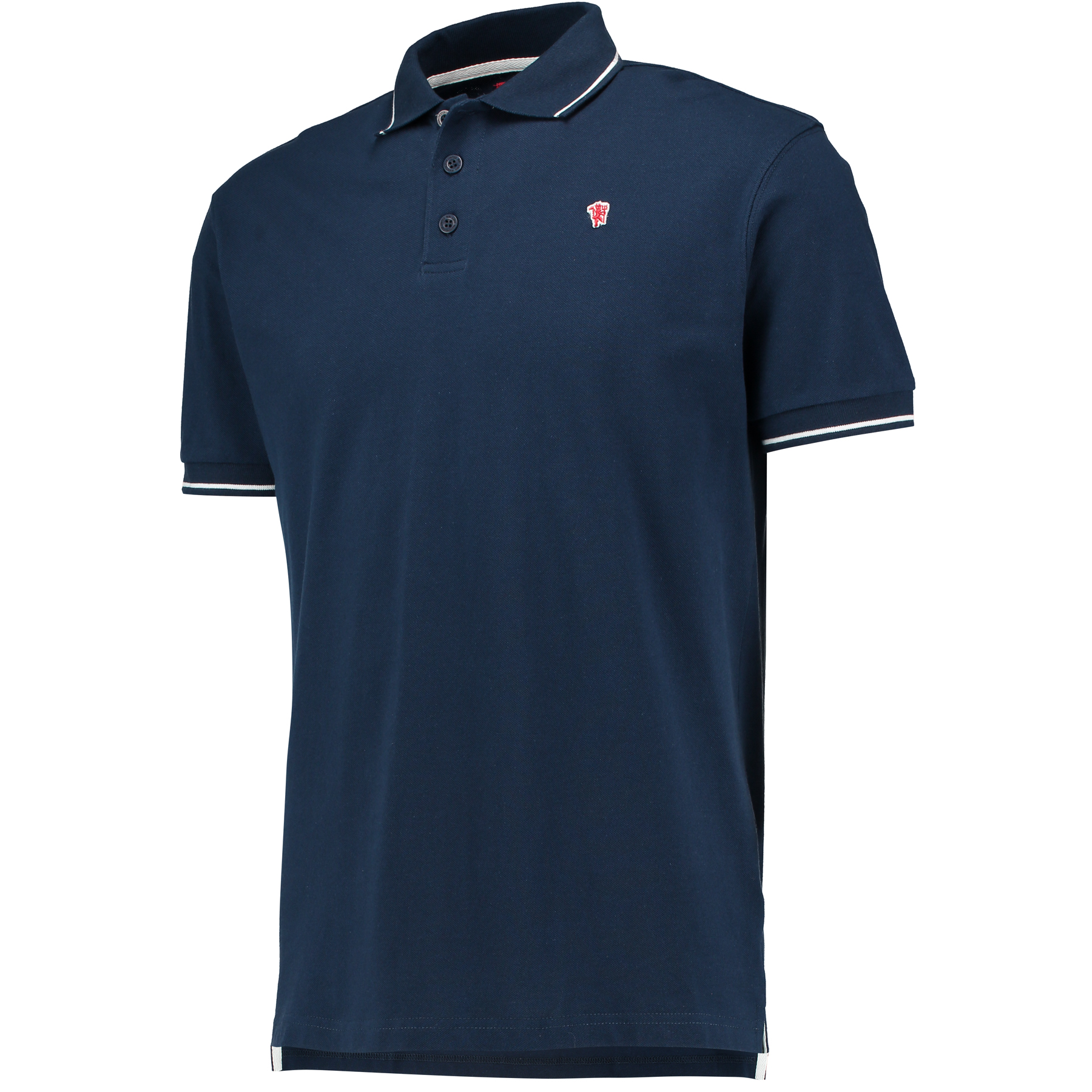 Manchester United Small Devil Polo Shirt - Navy - Mens