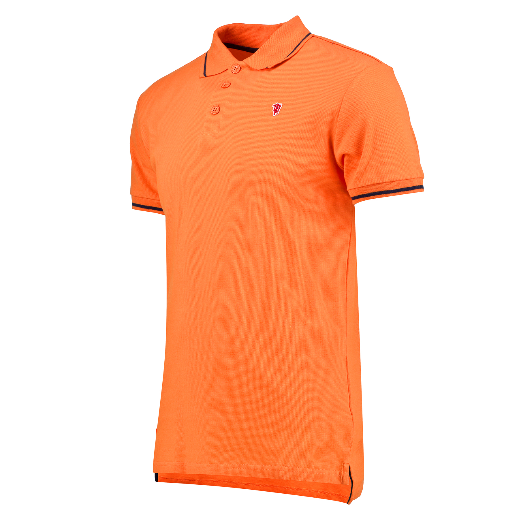 Manchester United Small Devil Polo Shirt - Orange - Mens