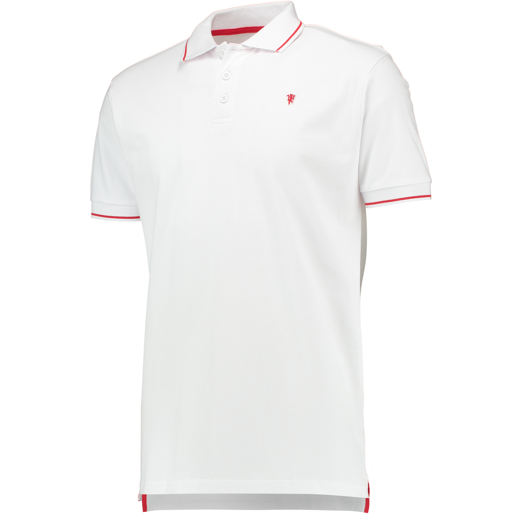 Manchester United Small Devil Polo Shirt - White - Mens