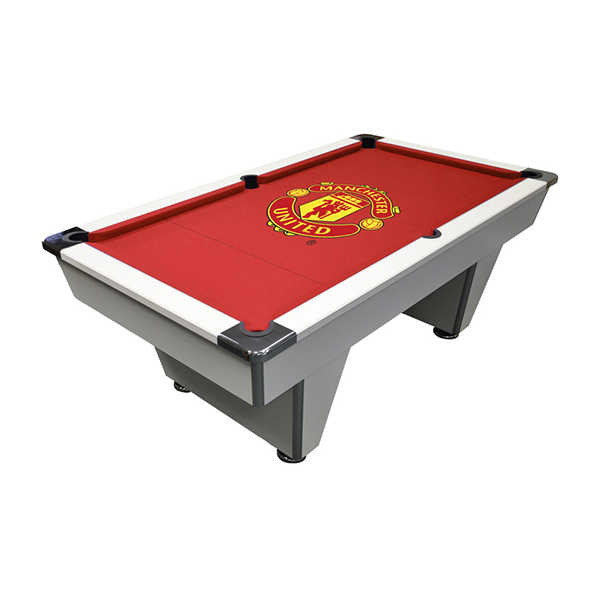 Manchester United Pool Table 7ft - White