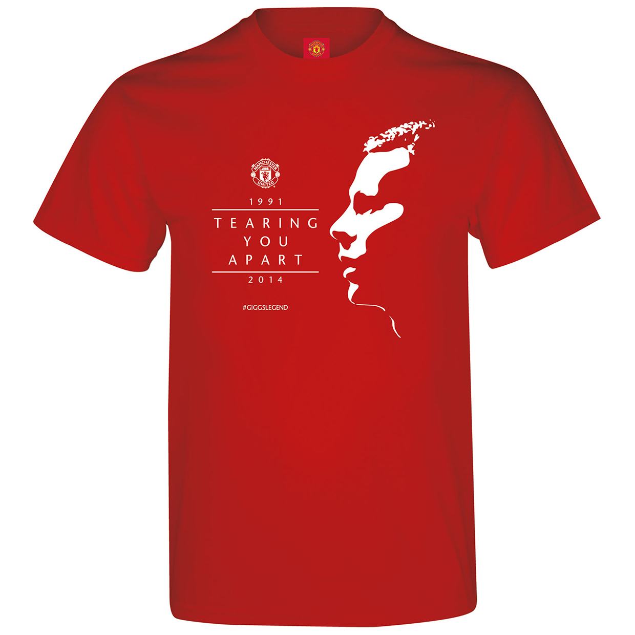 Manchester United Ryan Giggs Silhouette T-Shirt - Red - Mens