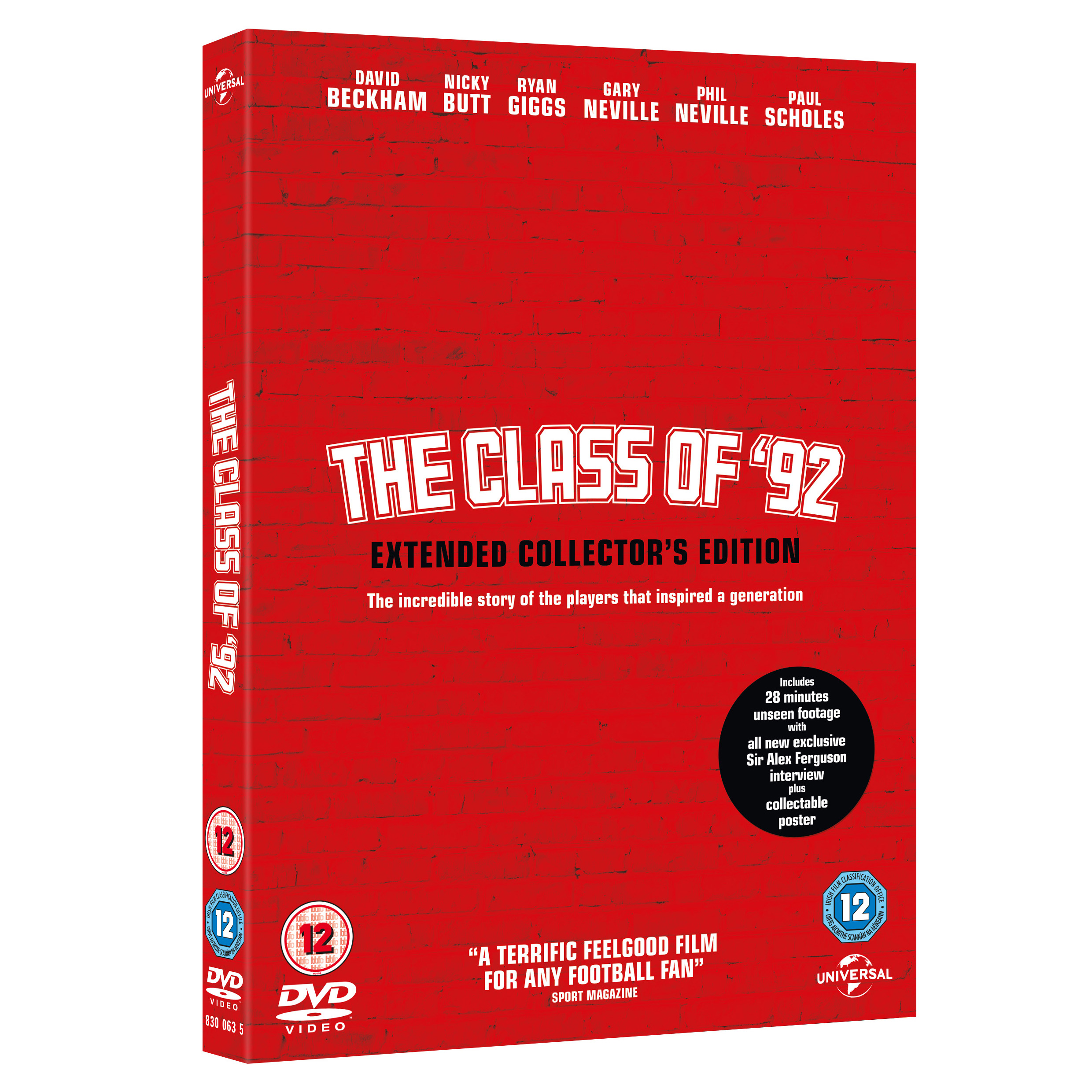 Manchester United The Class of 92 - Extended Collector's Edition - DVD