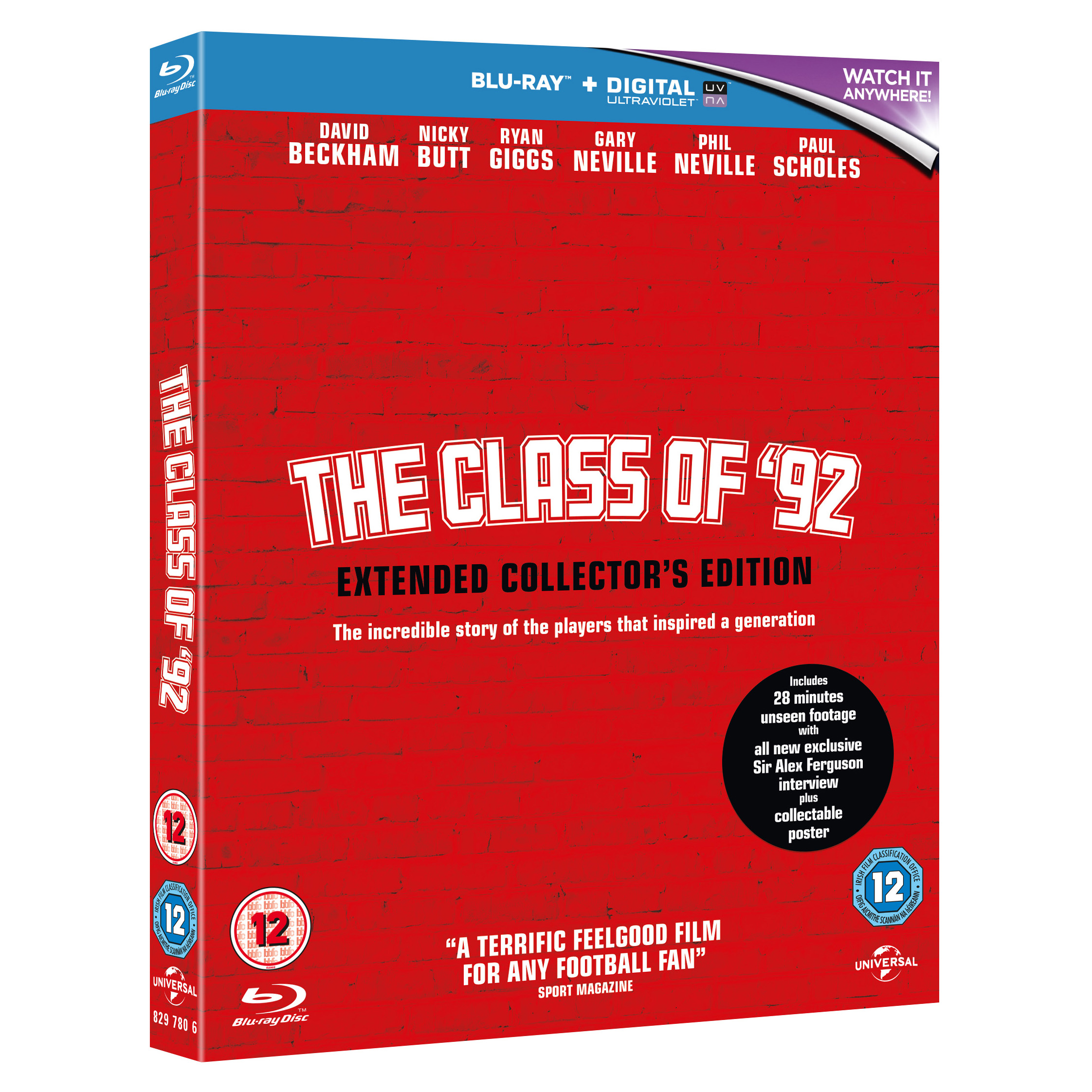 Manchester United The Class of 92 - Extended Collector's Edition - Blu-Ray DVD