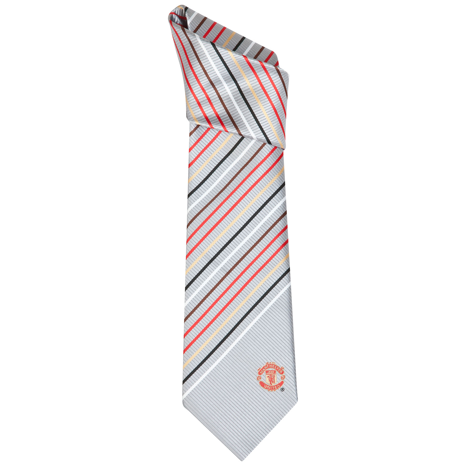 Manchester United Crest Multi Stripe Tie - Polyester