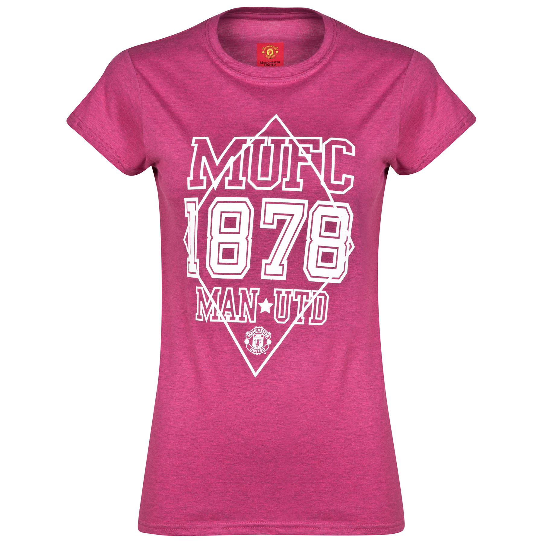 Manchester United 1878 T-Shirt - Antique Heliconia - Womens
