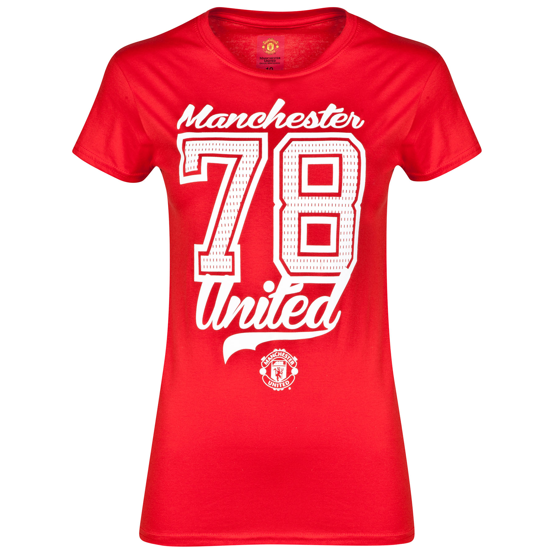 Manchester United Sports T-Shirt - Red - Womens