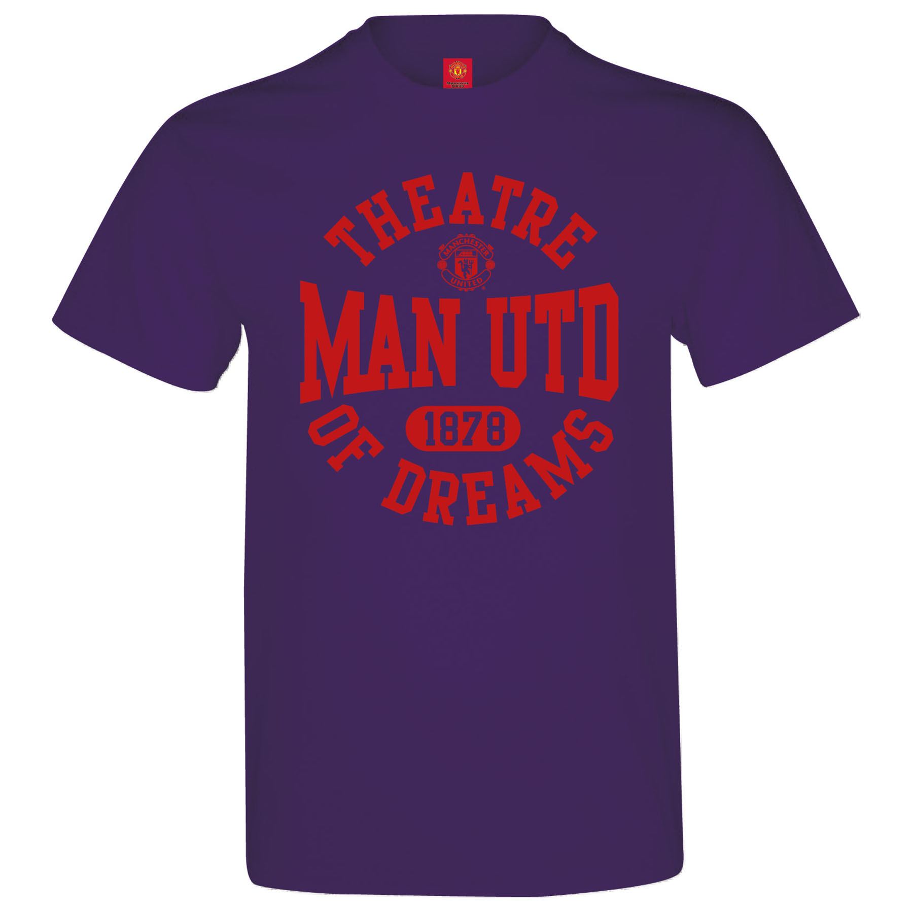 Manchester United Theatre Of Dreams T-Shirt - Purple - Mens