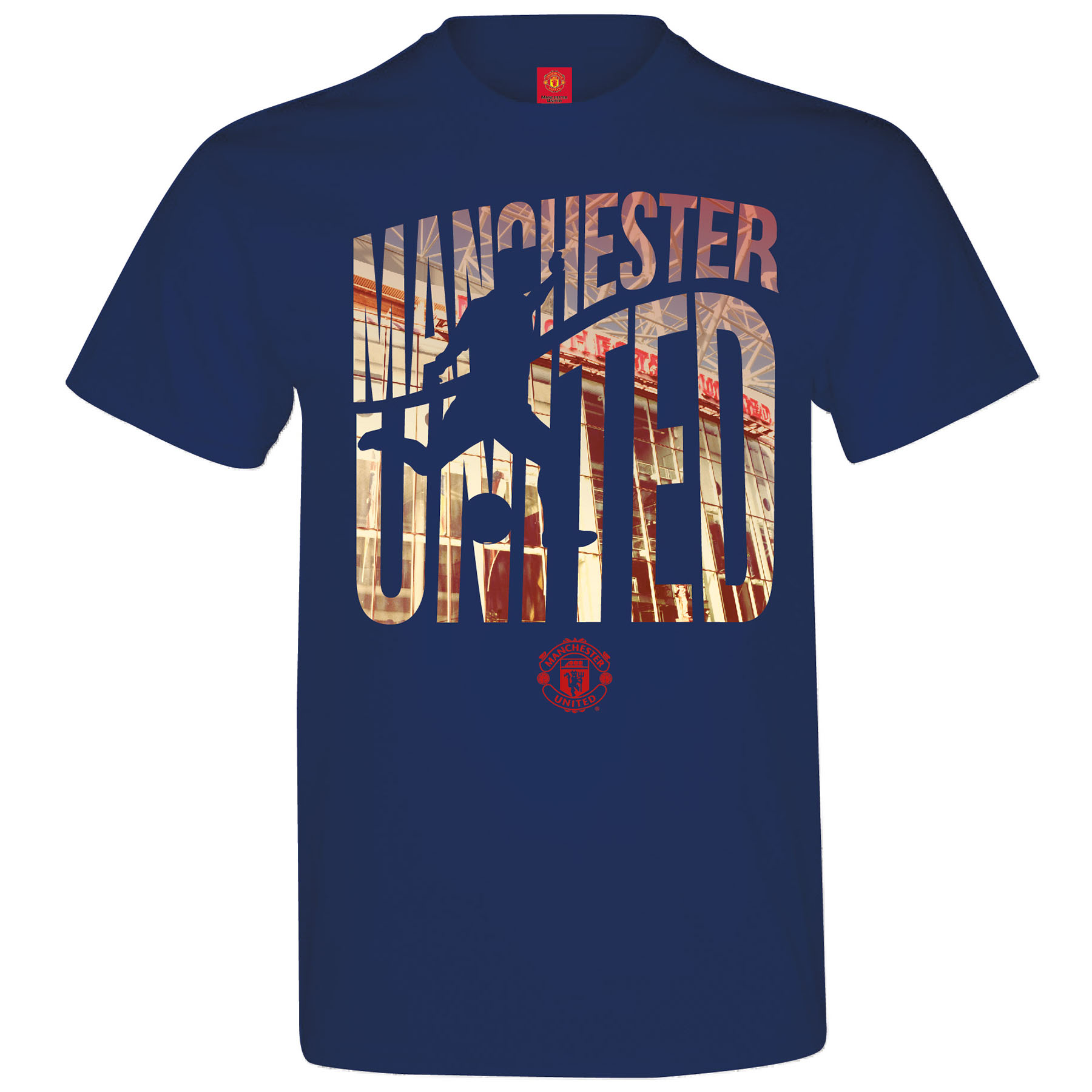 Manchester United Silhouette T-Shirt - Navy - Mens