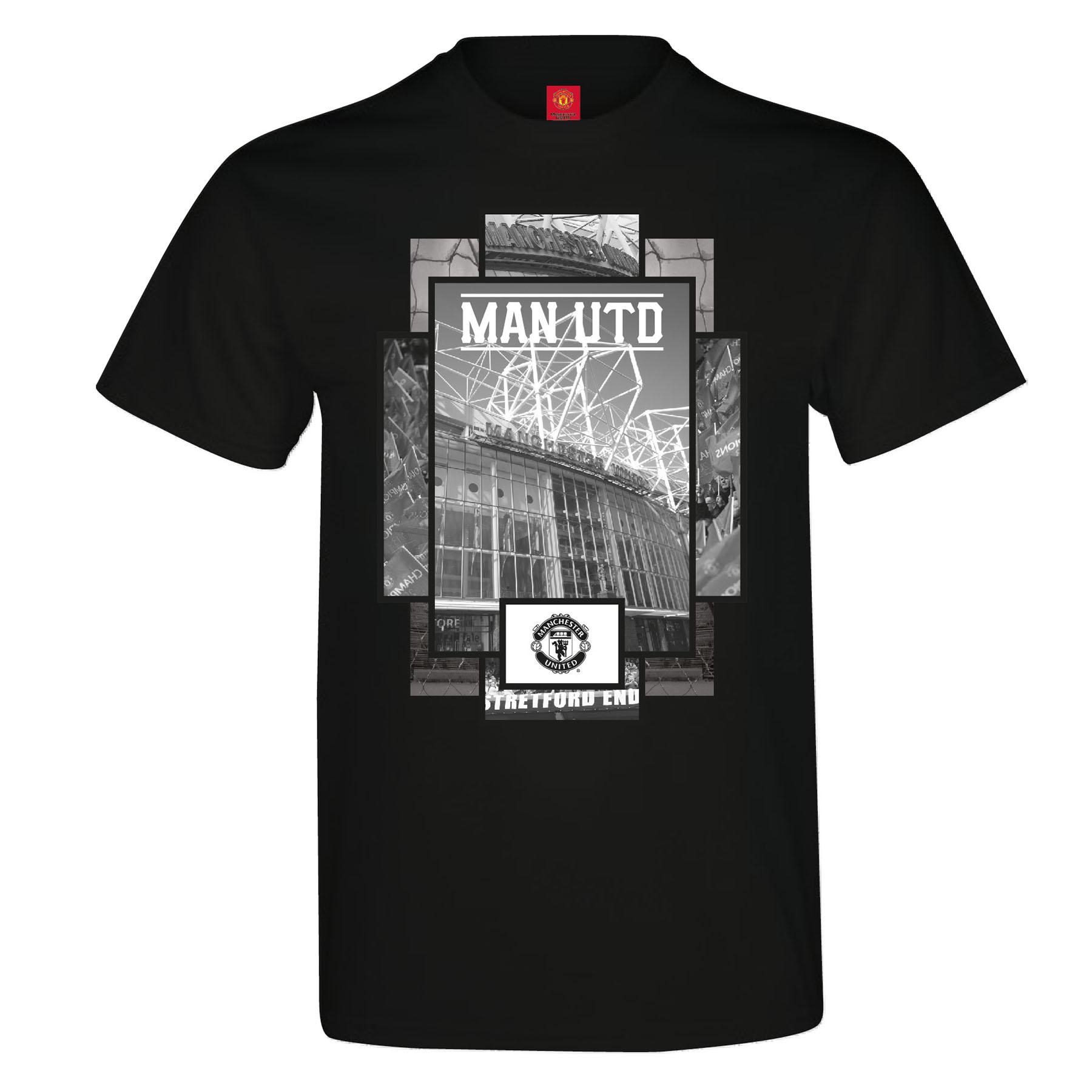 Manchester United Stadium T-Shirt - Black - Mens