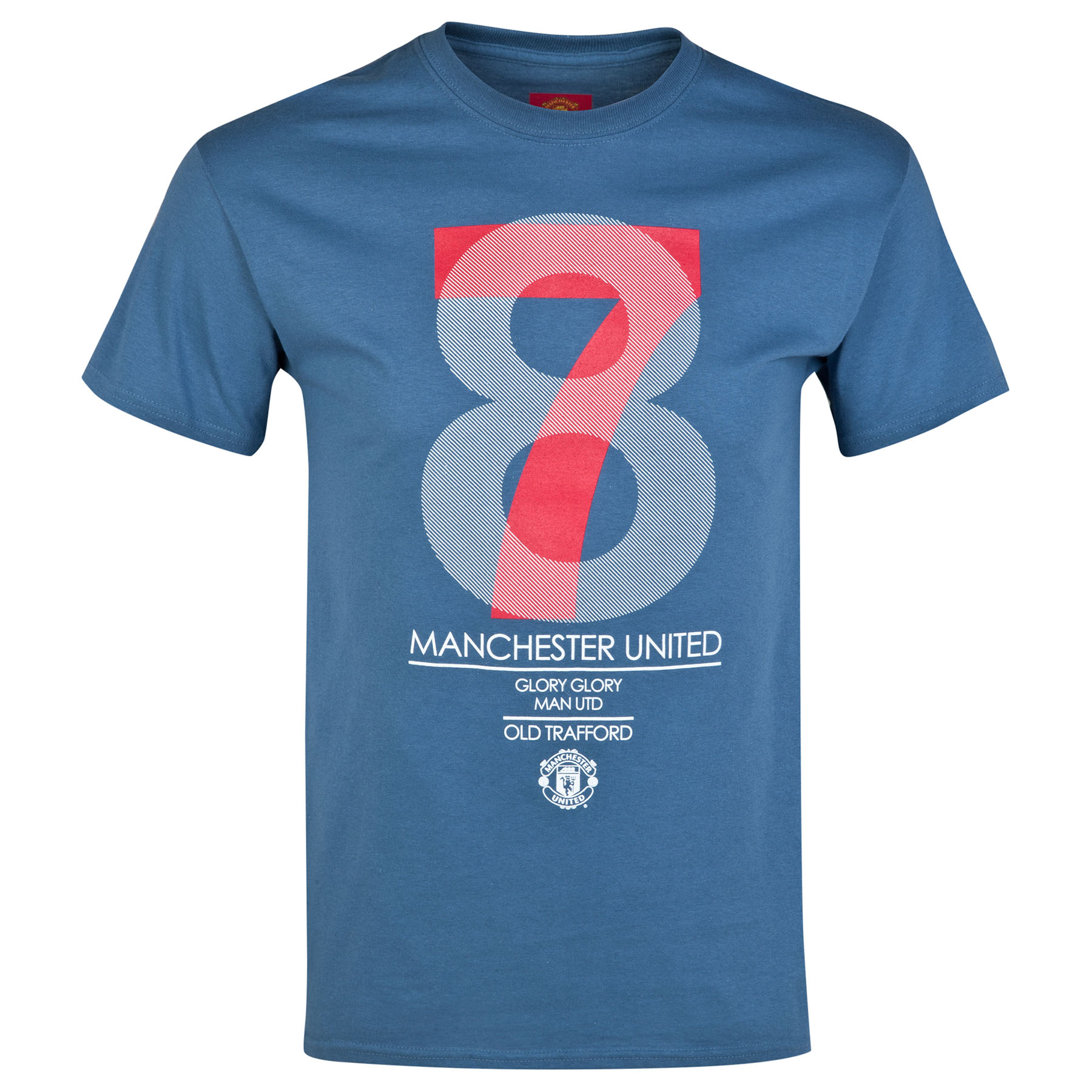 Manchester United 78 Graphic T-Shirt - Metro Blue - Boys