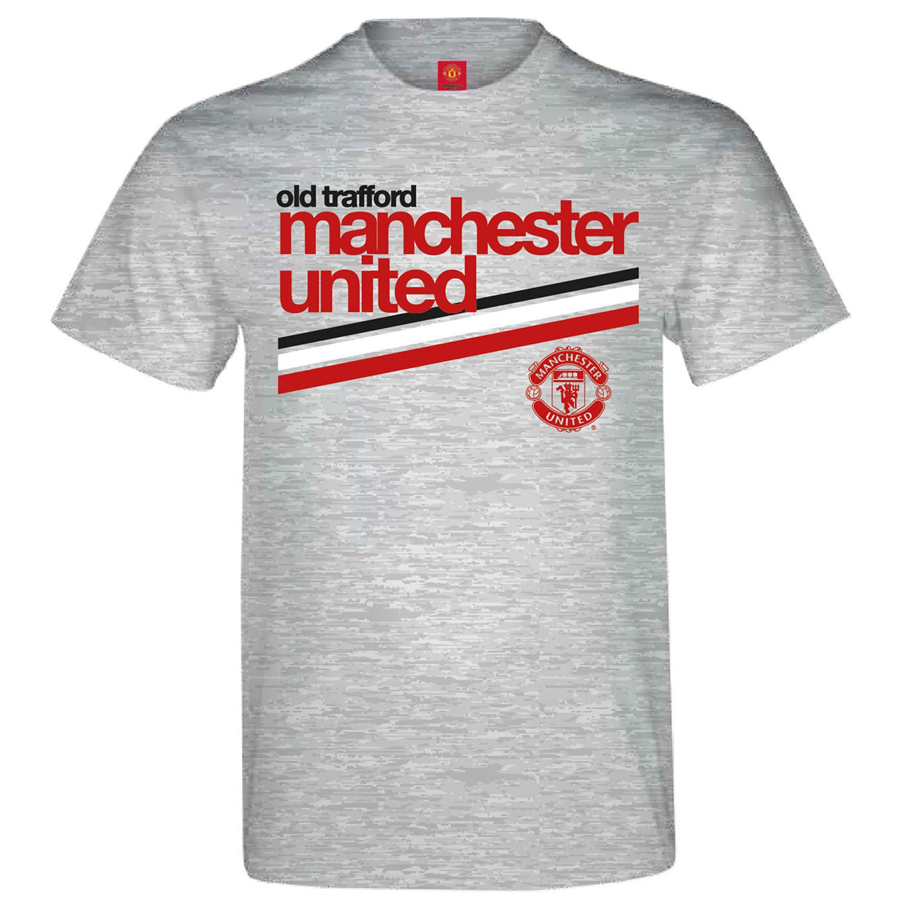 Manchester United Retro T-Shirt - Sports Grey - Mens