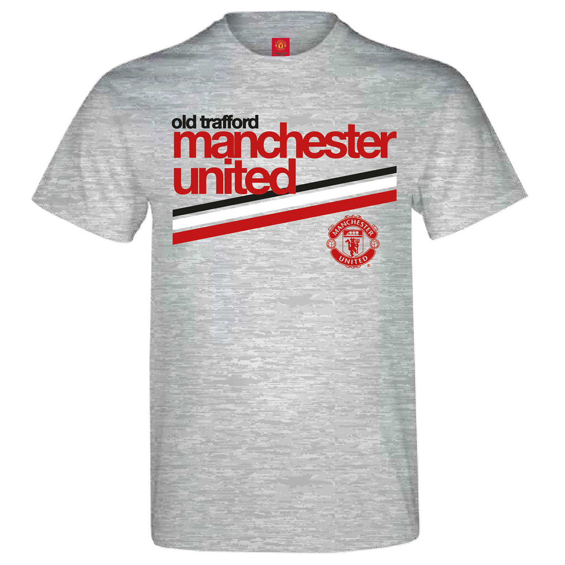 Manchester United Retro T-Shirt - Sports Grey - Boys