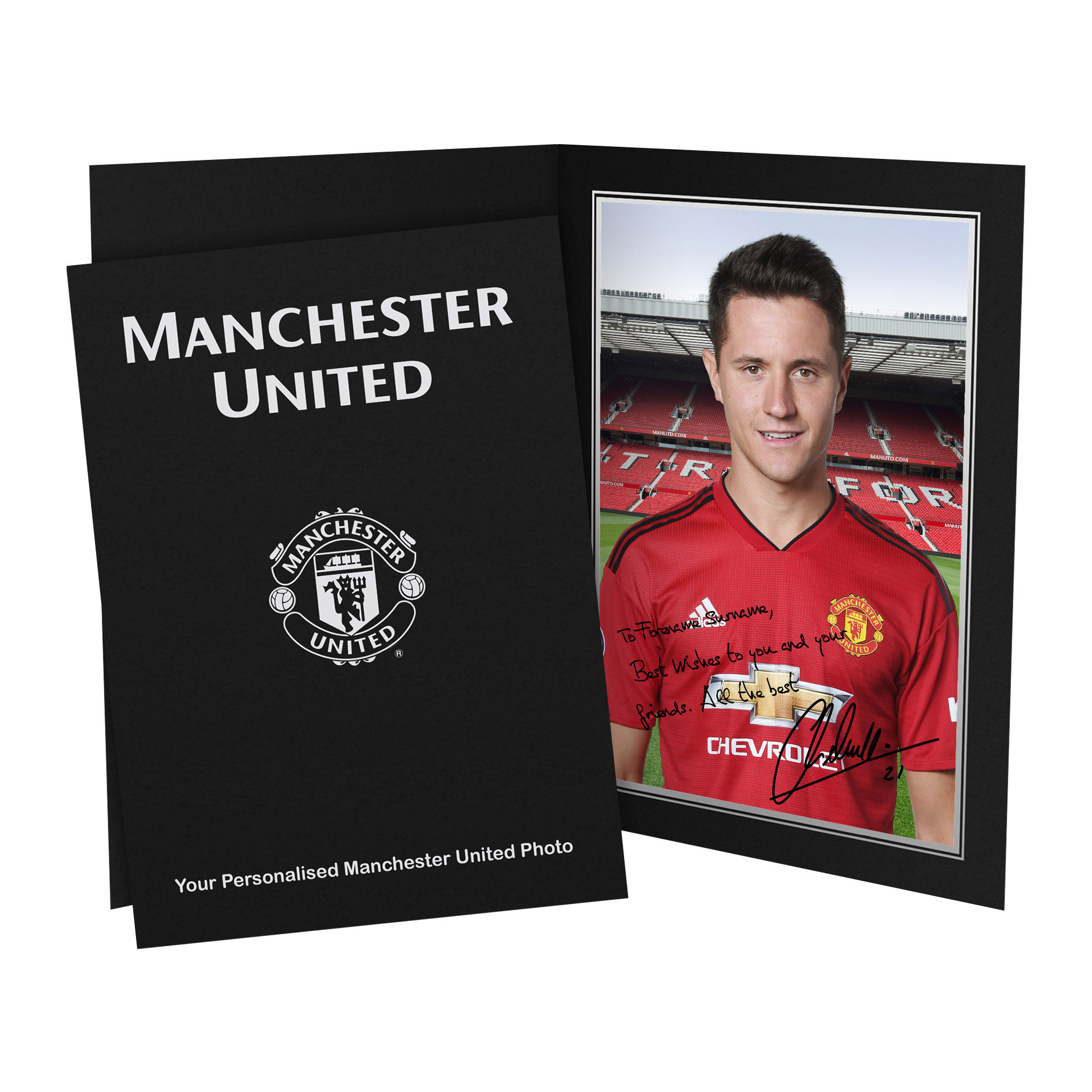 Manchester United Personalised Signature Photo in Presentation Folder - Herrera