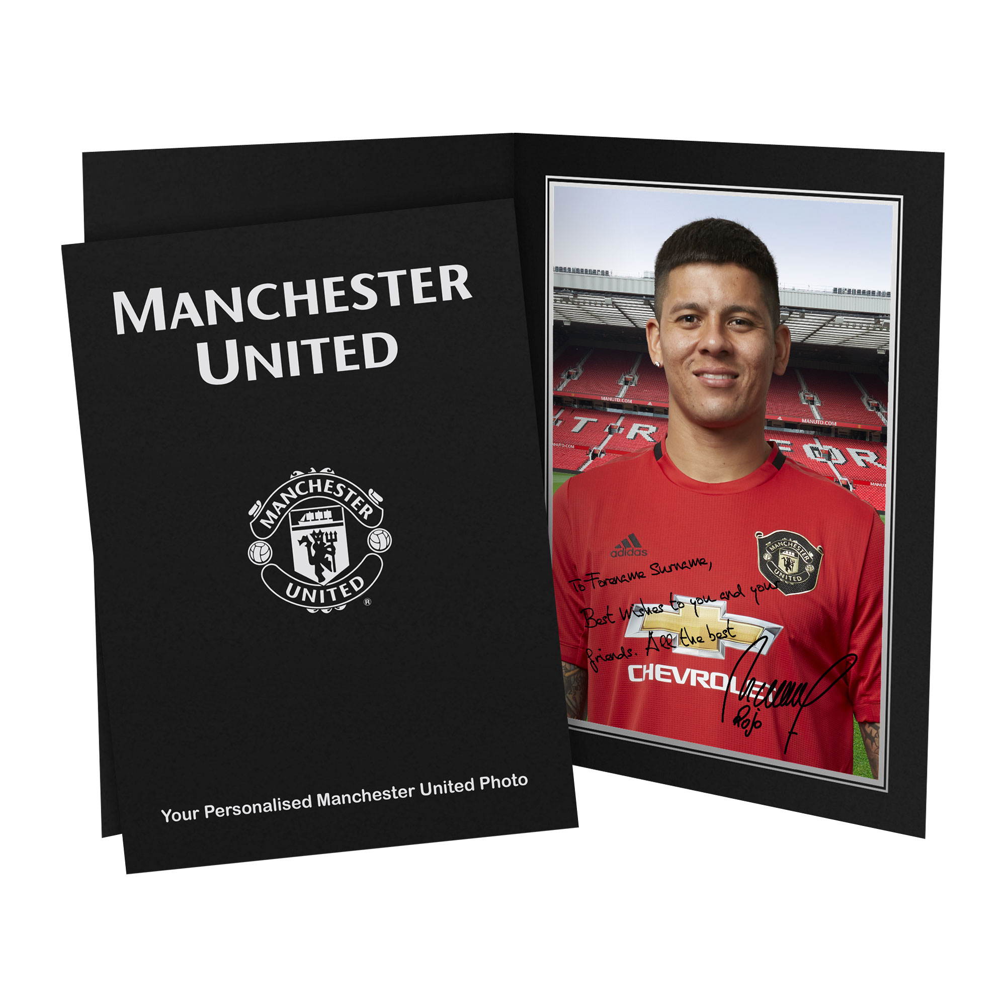 Manchester United Personalised Signature Photo in Presentation Folder - Rojo