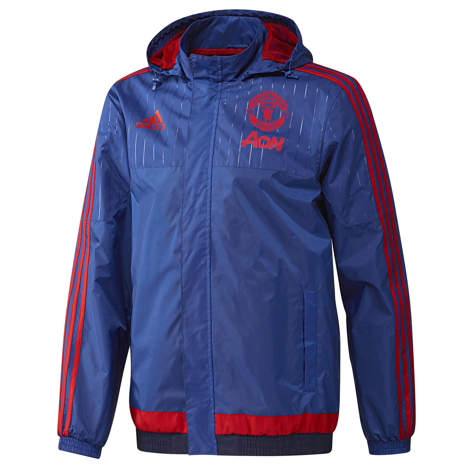 Manchester United Training All Weather Jacket Royal Blue