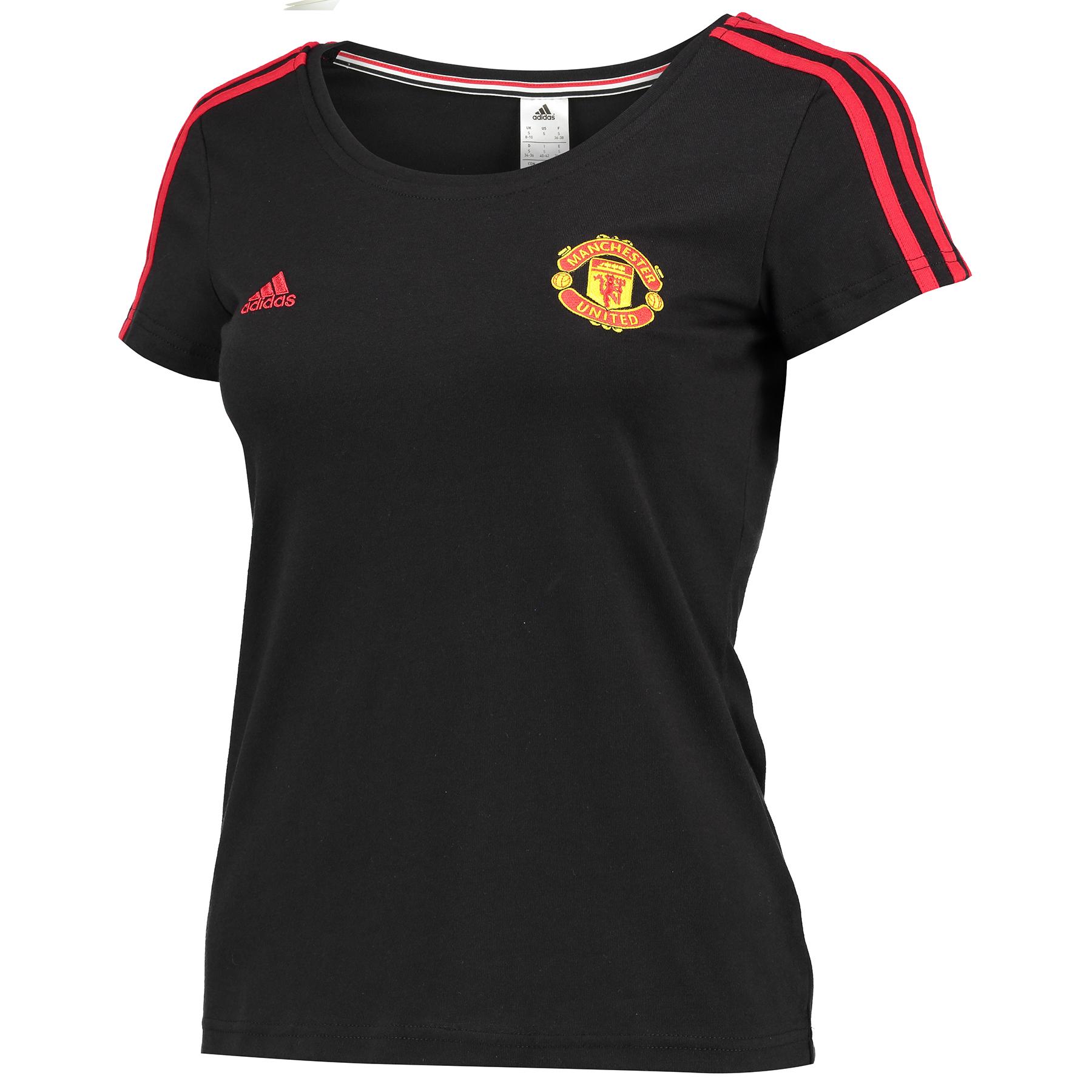 Manchester United Core T-Shirt - Womens Black