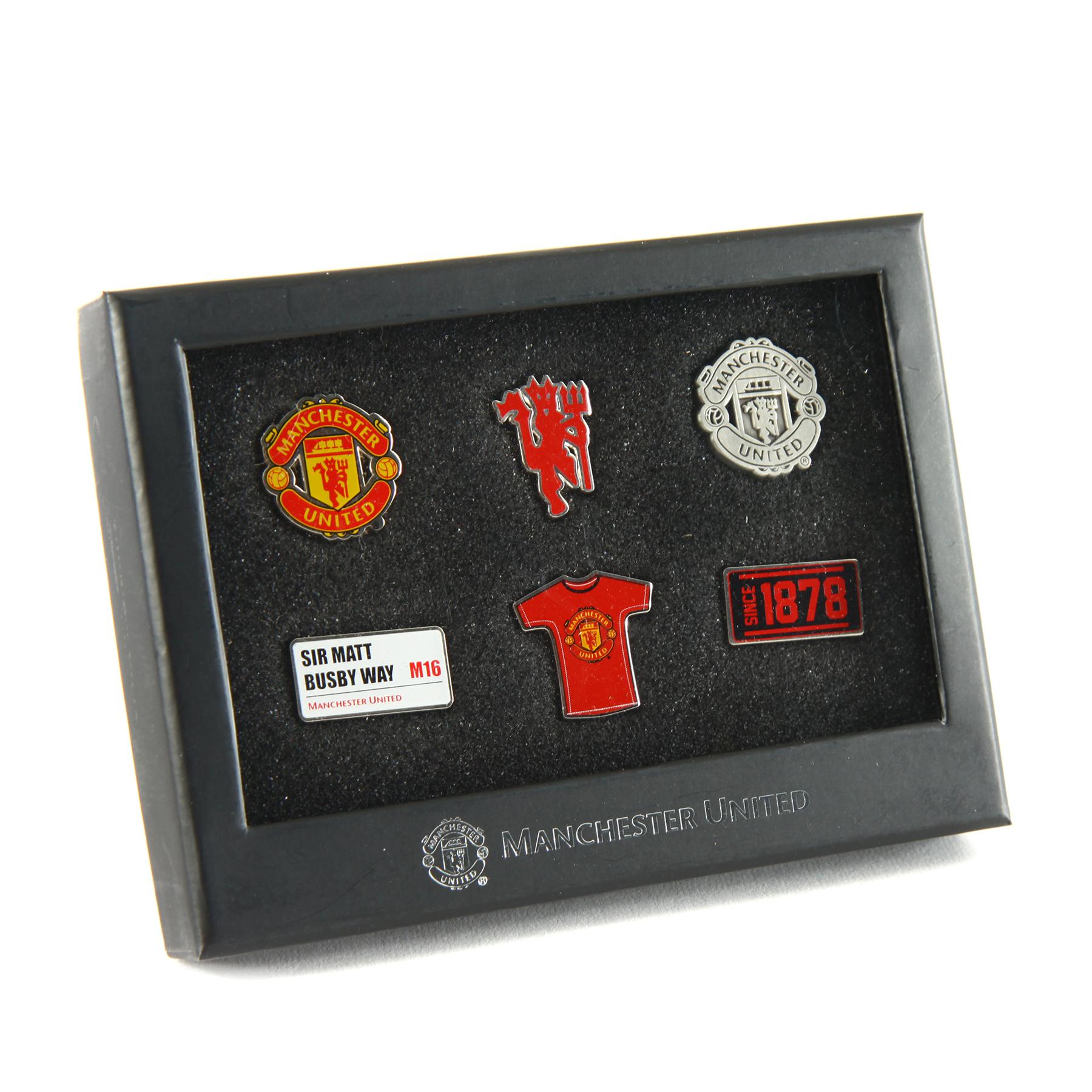 Manchester United 6 Piece Badge Set