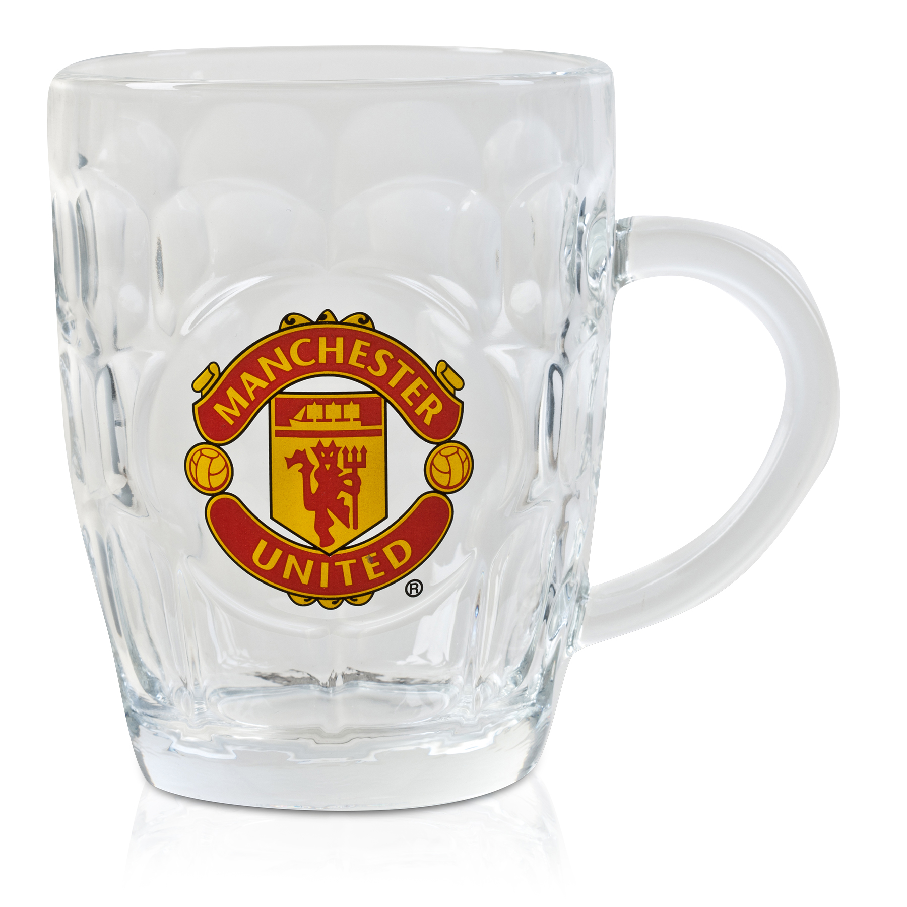 Manchester United Dimple Pint Glass