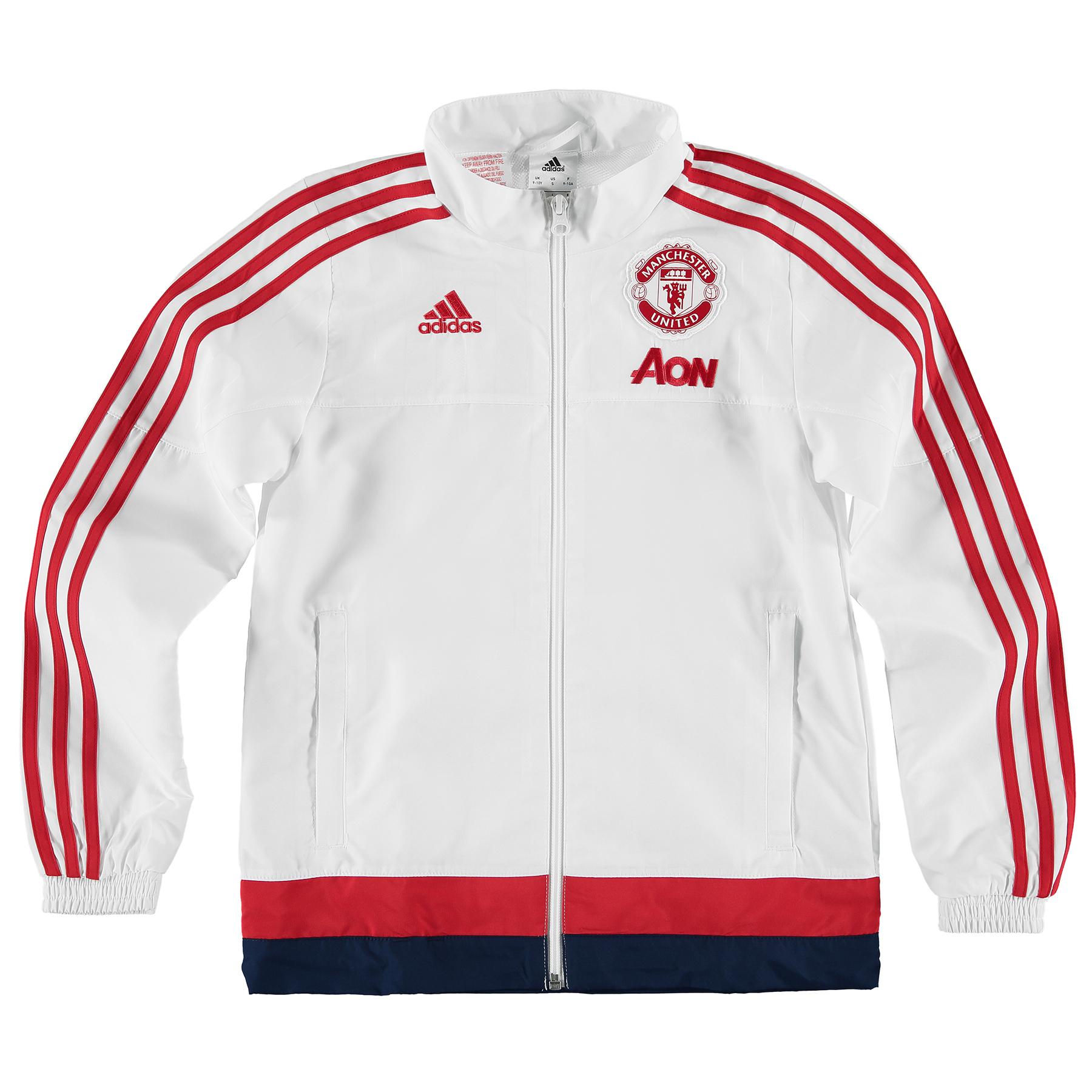 Manchester United Presentation Jacket  Kids White