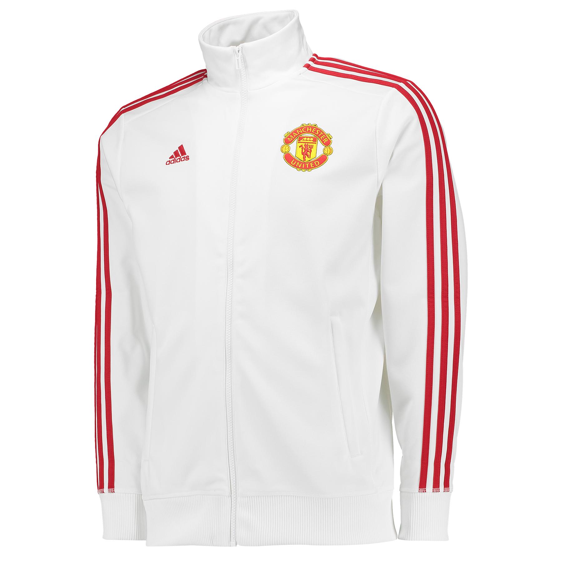 Manchester United 3 Stripe Track Top White