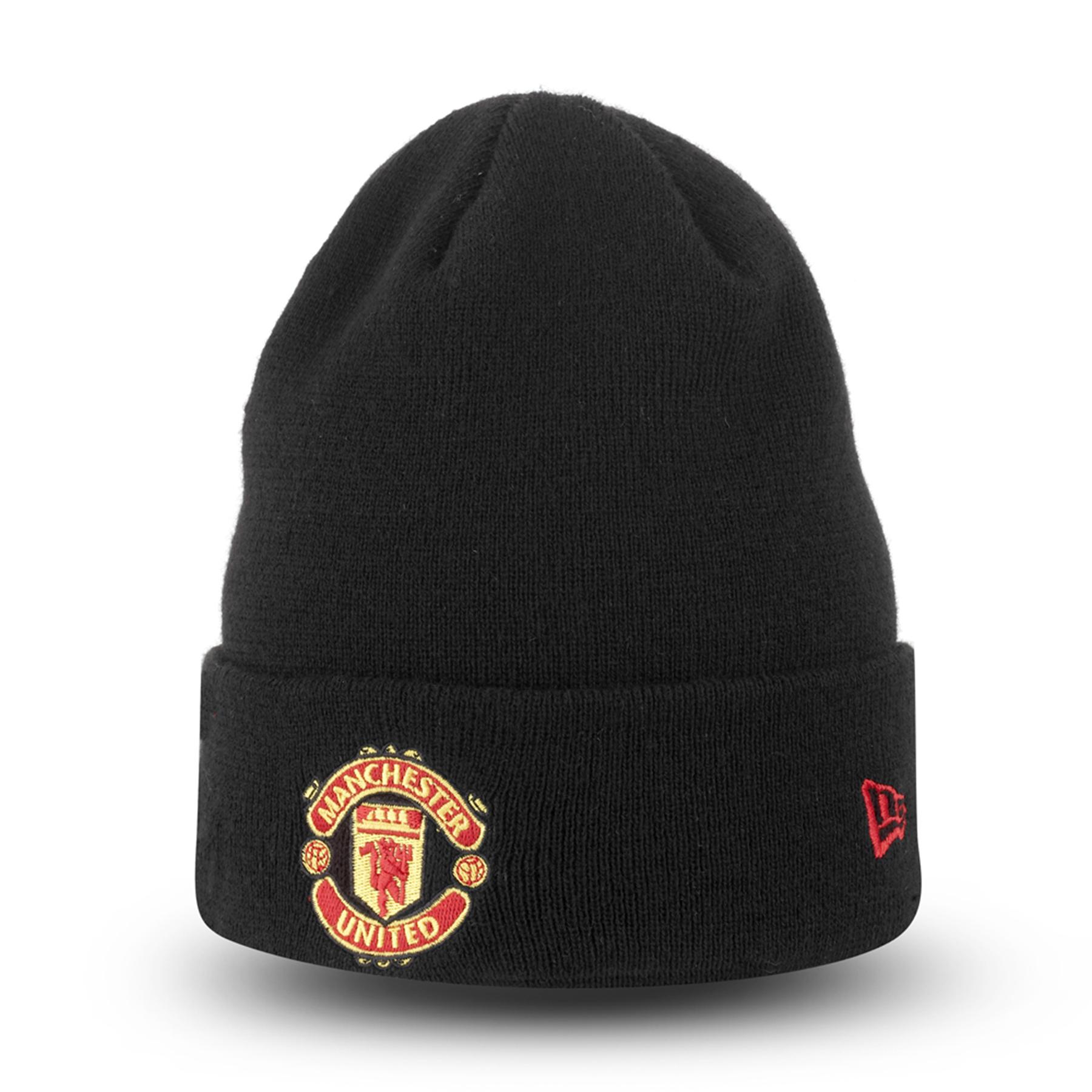Manchester United New Era Basic Cuff Hat - Black - Adult