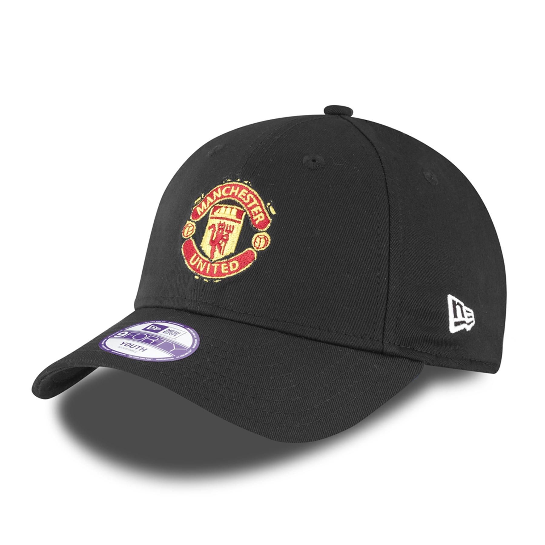 Casquette réglable Manchester United New Era Basic 9FORTY - Noir - Enfant