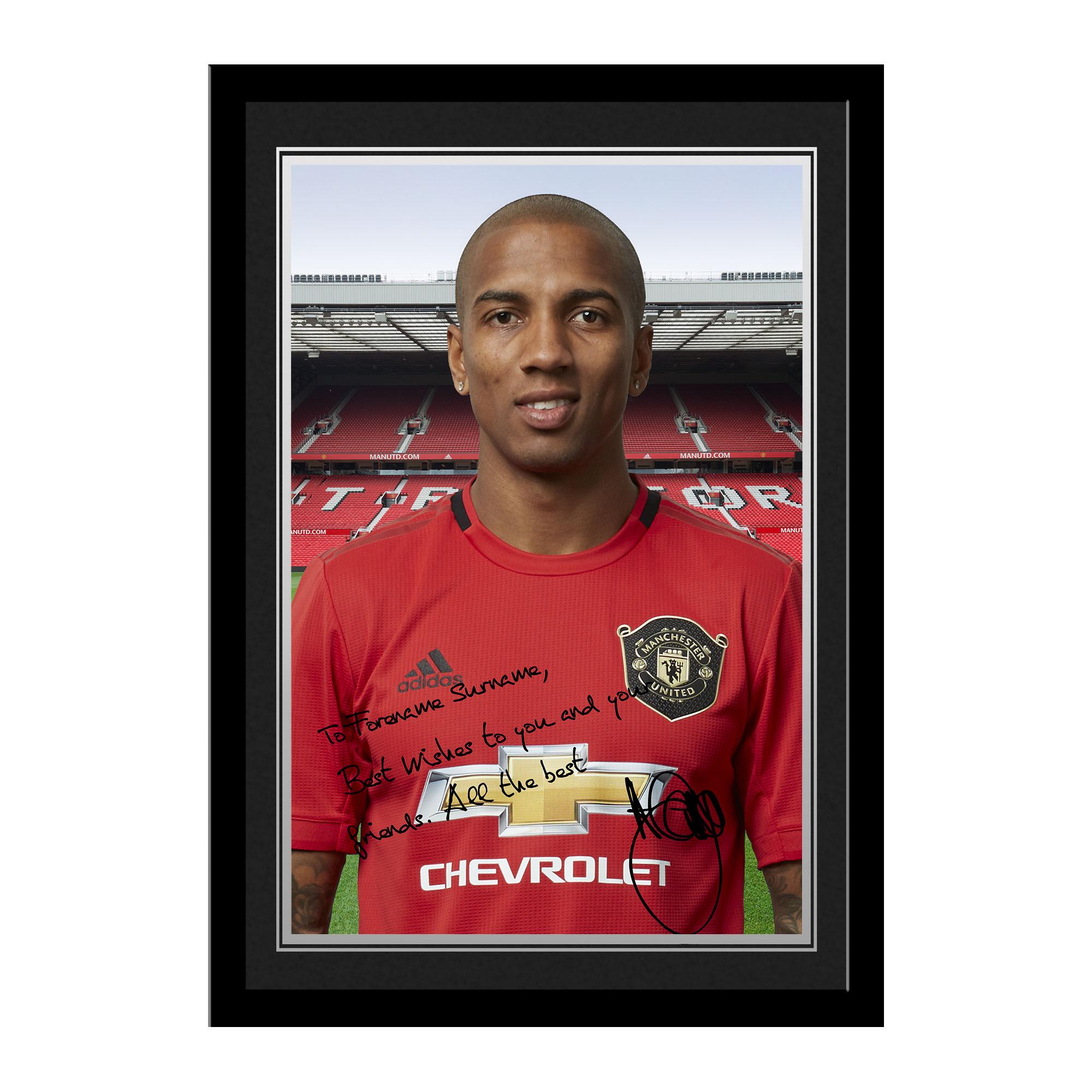 Ian Philipson Manchester United - Foto enmarcada con firma personalizada - Young Black