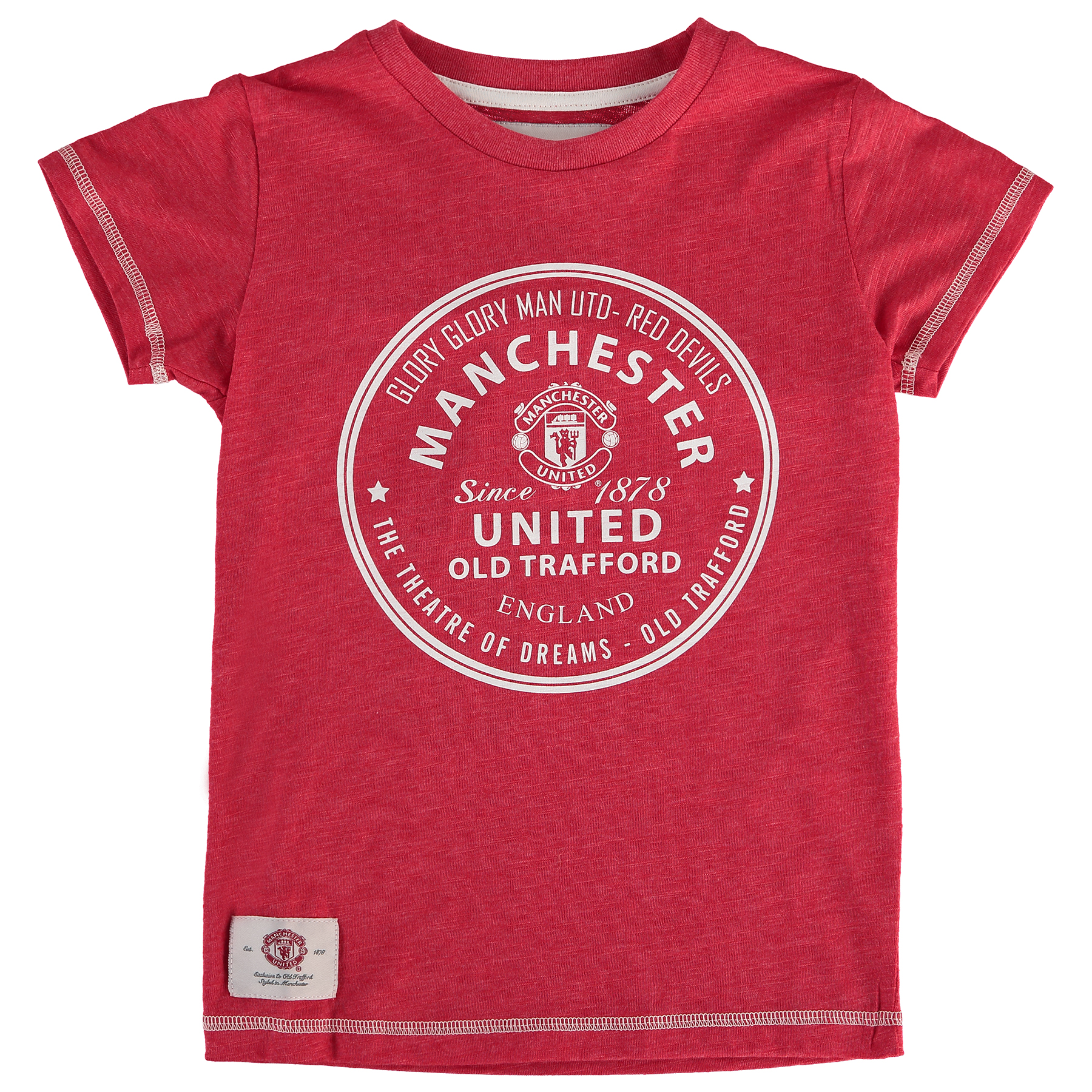 Manchester United Essential Circle T-Shirt - Red - Girls