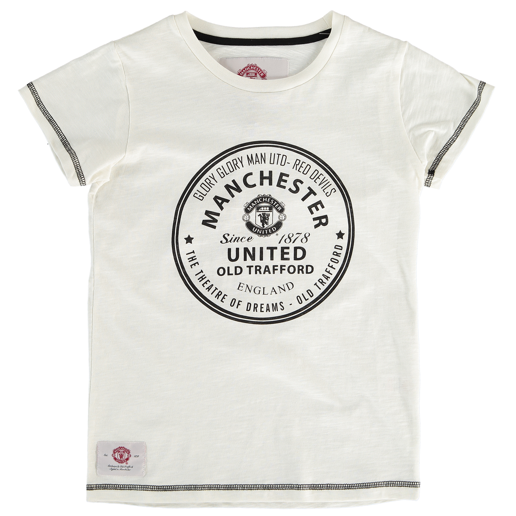 Manchester United Essential Circle T-Shirt - Winter White - Girls