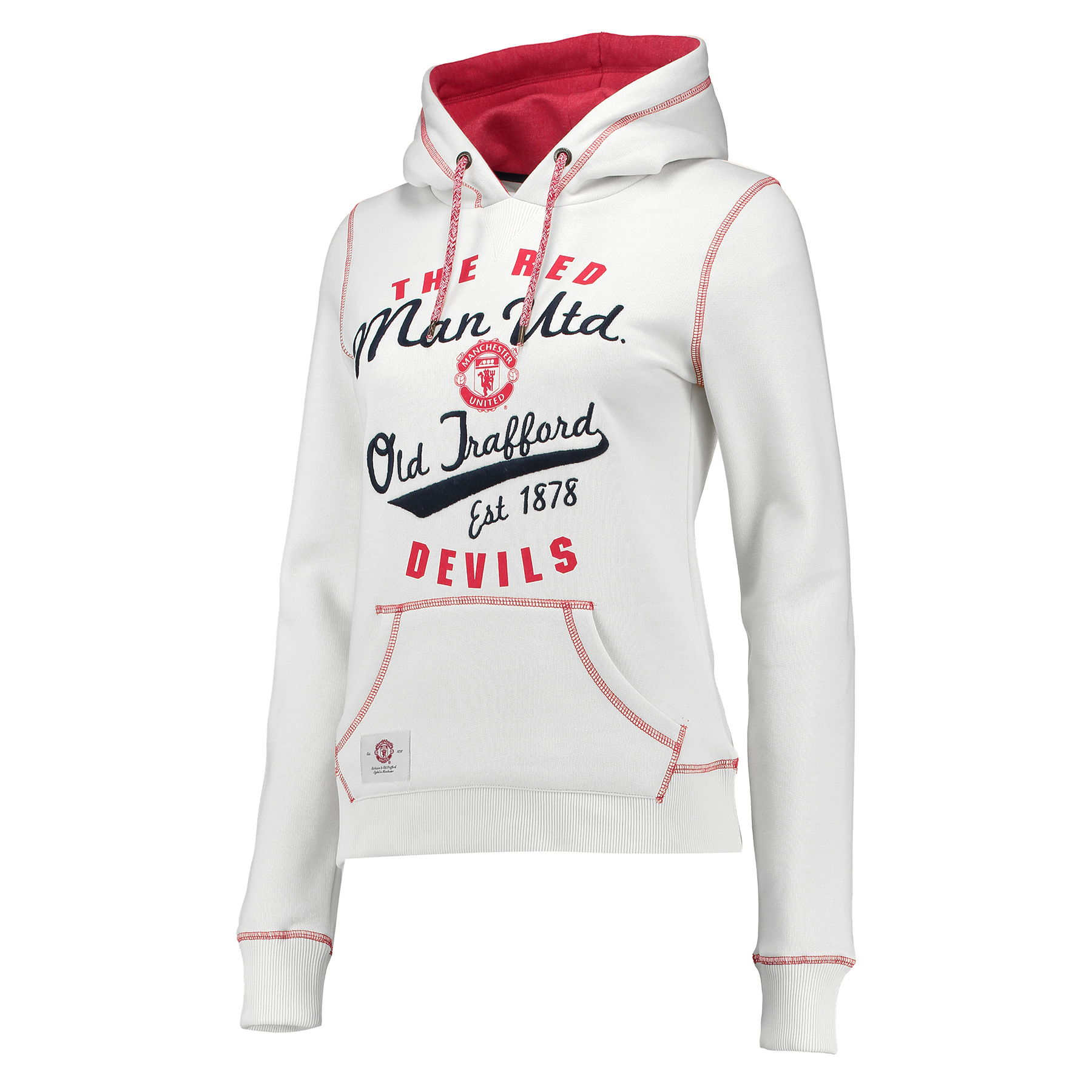 Manchester United Essential Hoodie - Winter White - Womens